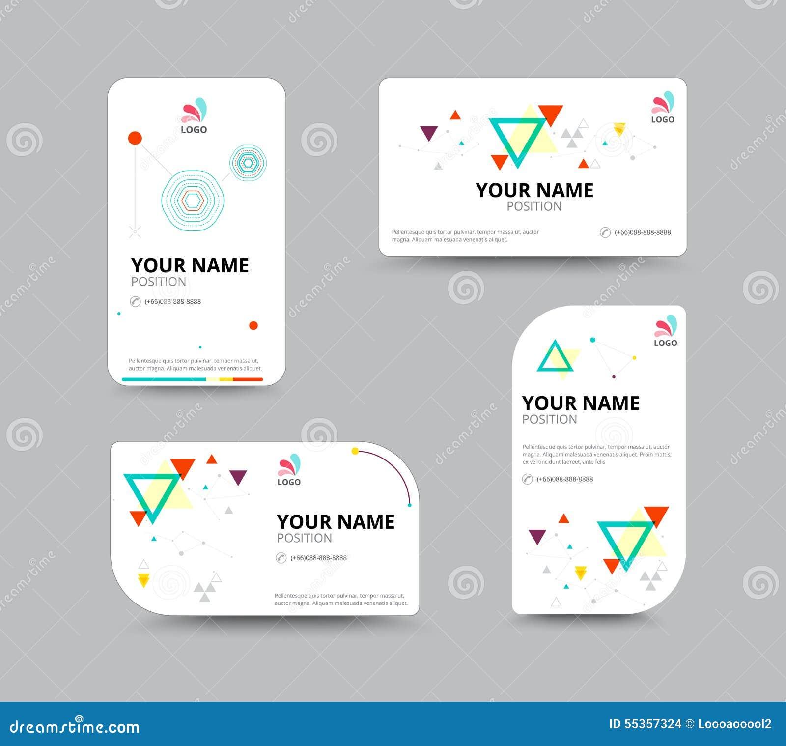 Modello del biglietto da visita, progettazione della disposizione di biglietto da visita, illu di vettore