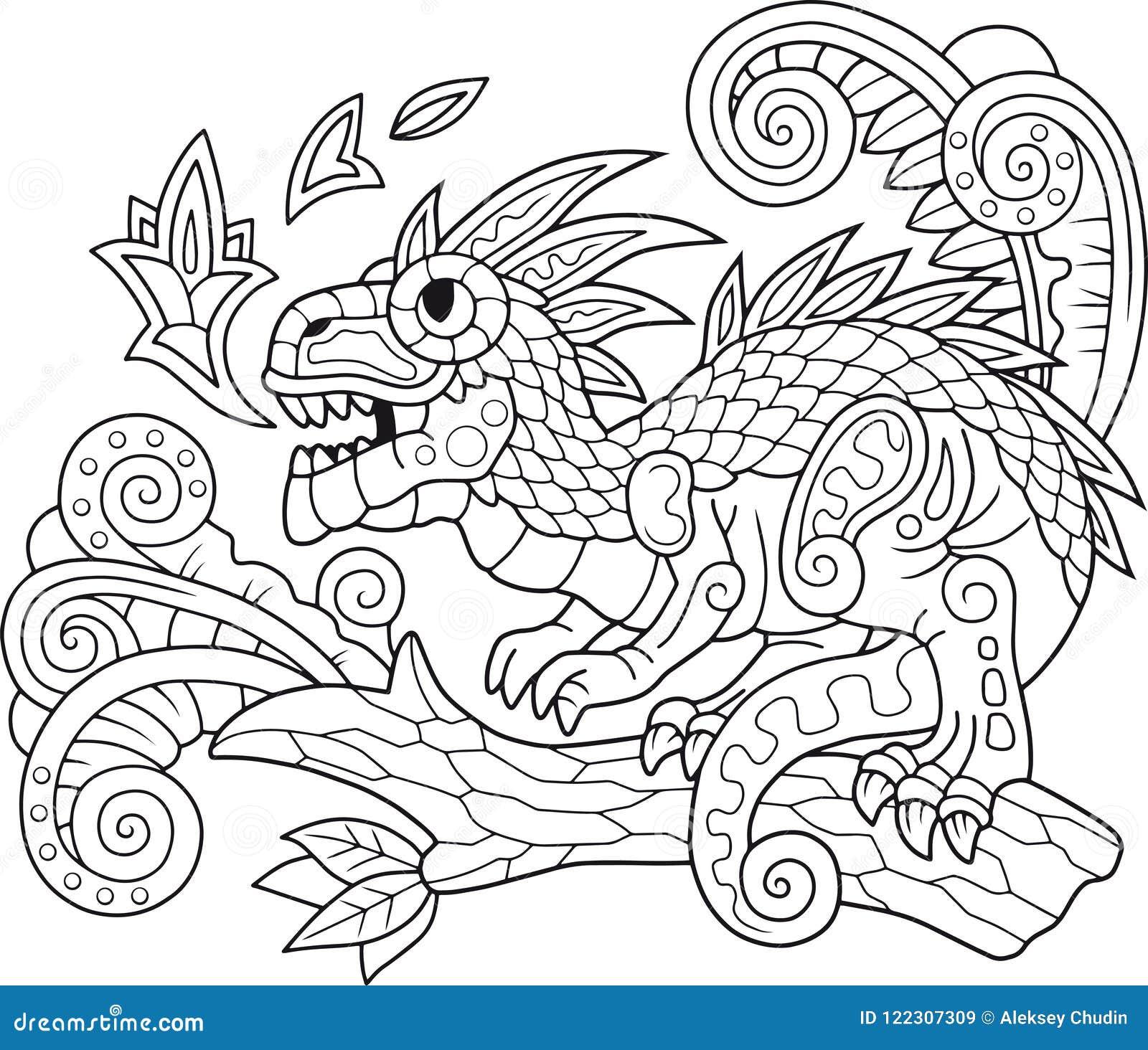 Modello Del Dinosauro Illustrazione Di Progettazione Disegno Di