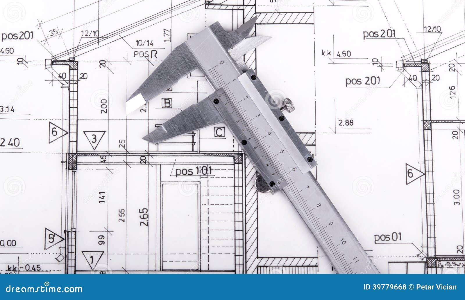 Modello del disegno di progetto dell 39 architetto fotografia for Software di progettazione del modello di casa