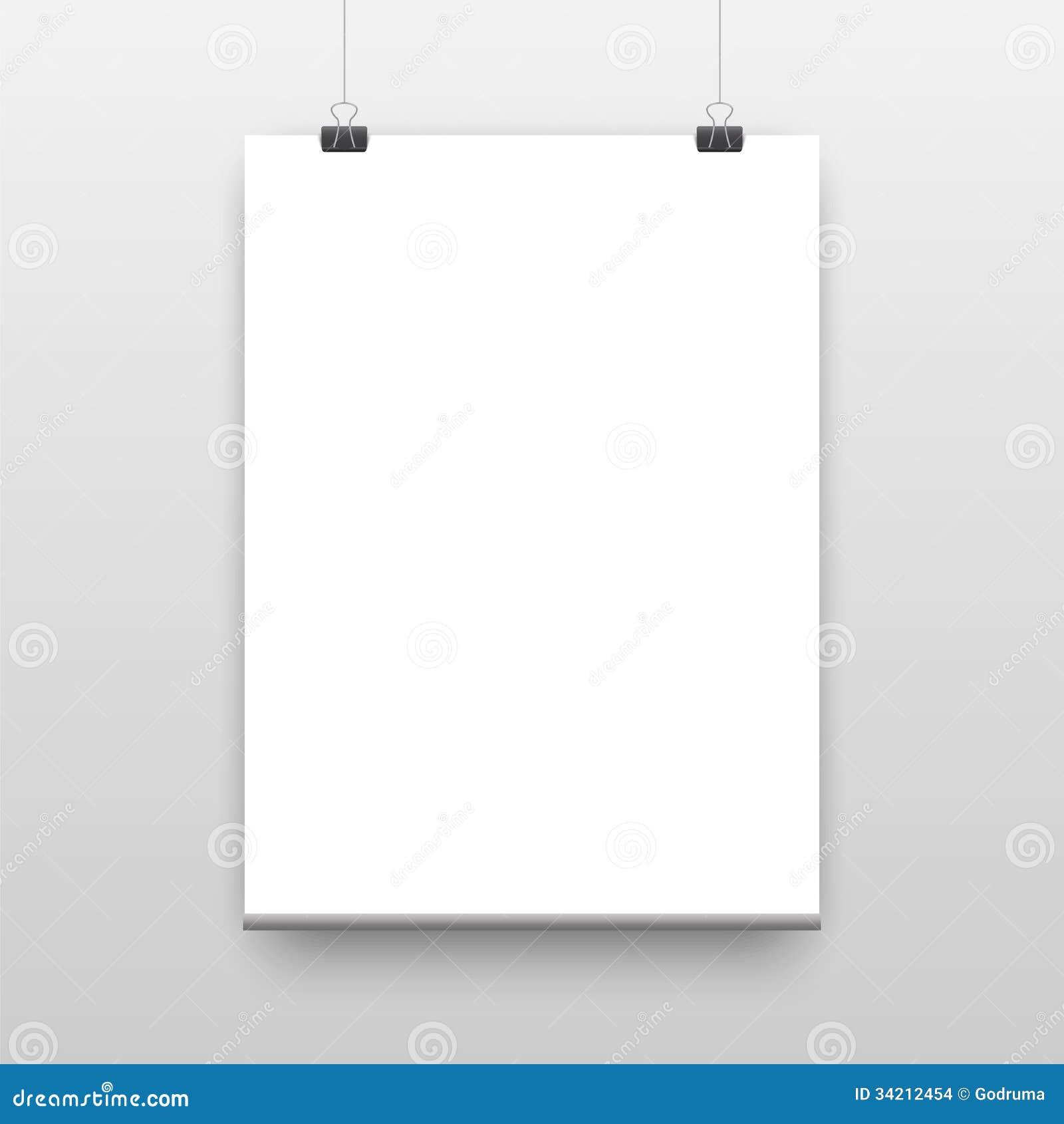 Modello del manifesto di vettore di uno strato di carta