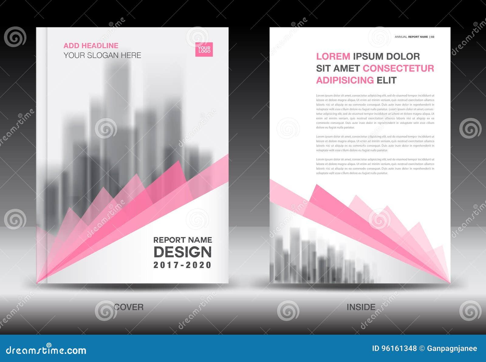 Modello dell aletta di filatoio dell opuscolo del rapporto annuale, progettazione rosa della copertura