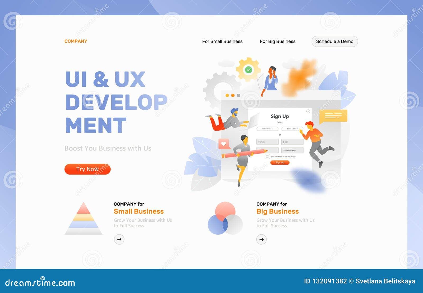 Modello dell intestazione di sviluppo di UX & di UI