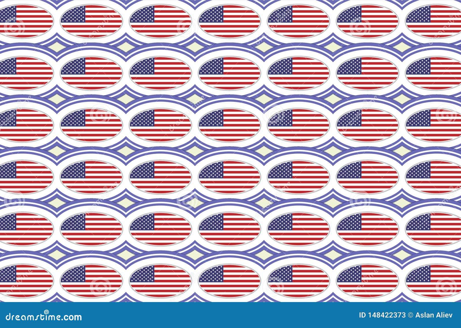 Modello della bandiera americana