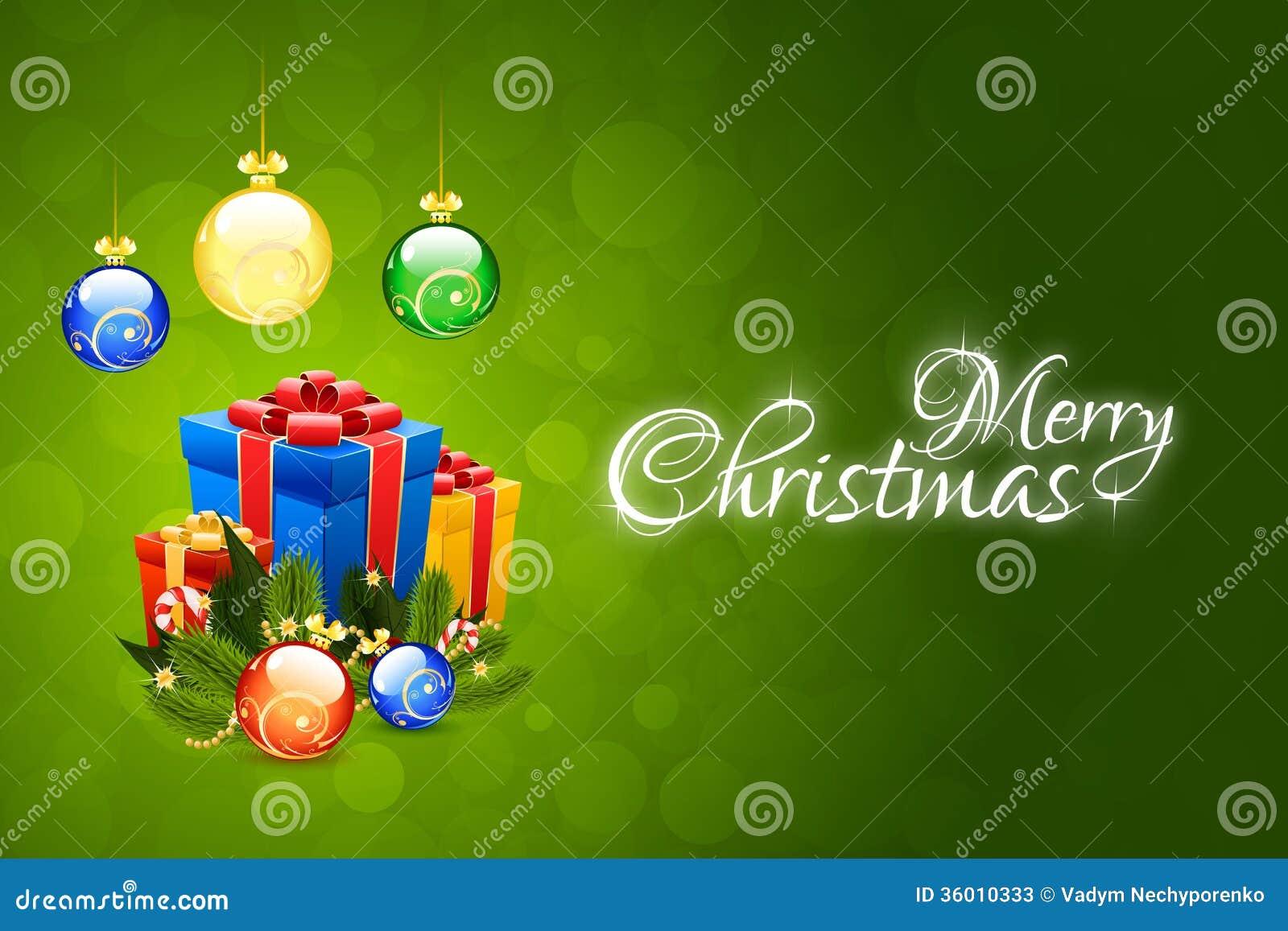 Modello della cartolina di Natale