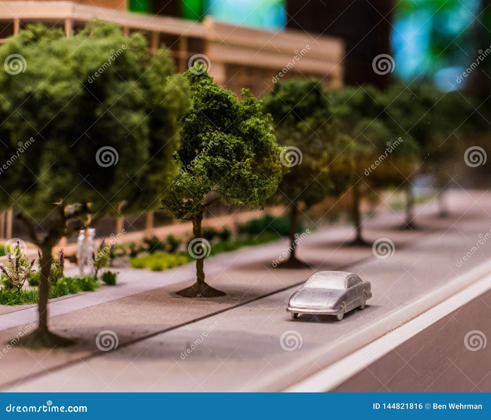 Modello della figurina di una città