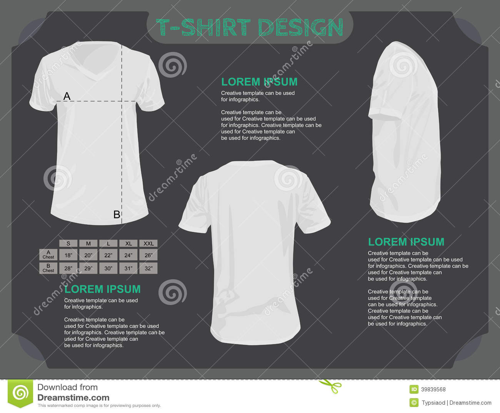 Modello della maglietta.