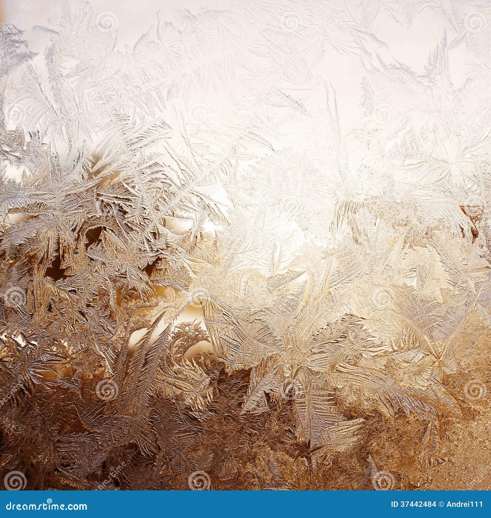 Modello della neve sulla finestra