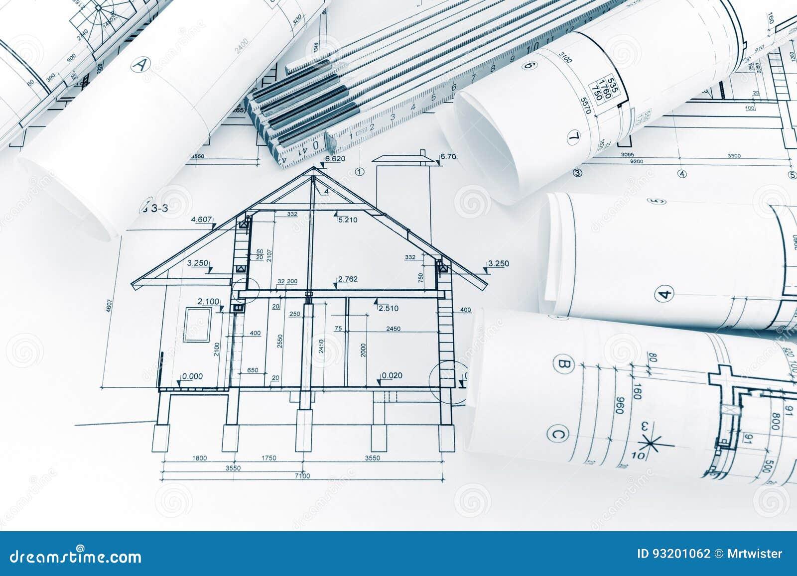 Modello della pianta della casa e righello di piegatura for Creatore della pianta della casa
