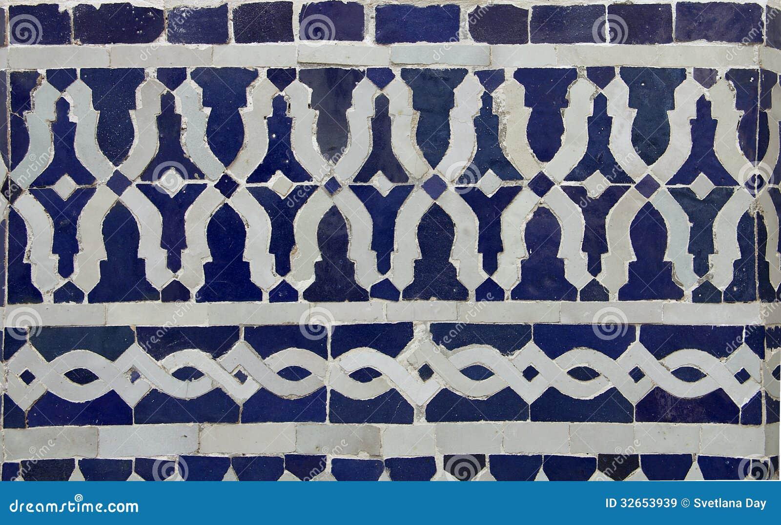 Modello delle mattonelle di zellige del marocchino immagine stock