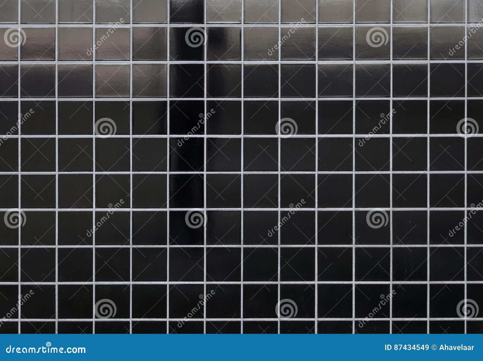 Modello delle piastrelle di ceramica e dellombra nere quadrate
