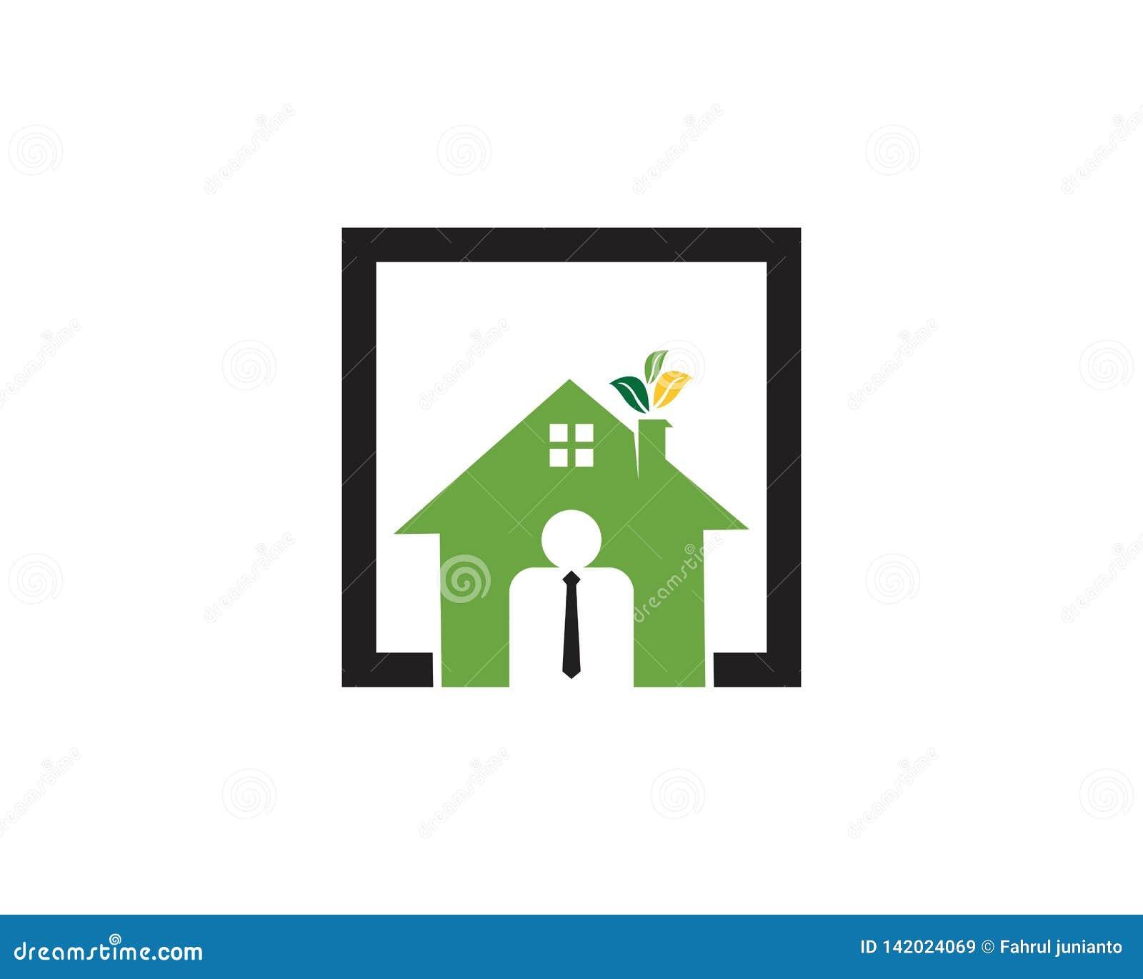 Modello di costruzione di logo di Agen della casa