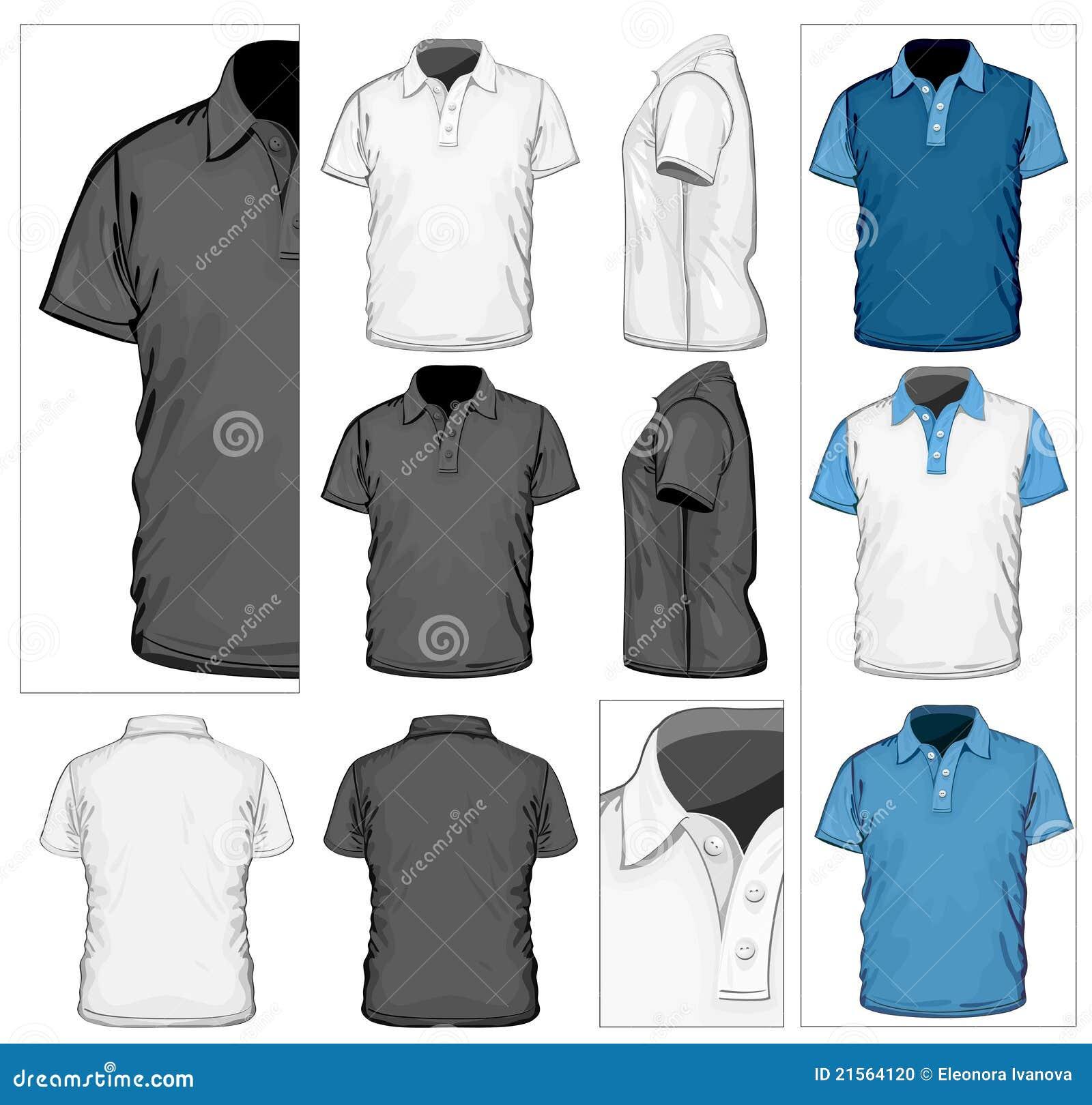 Modello di disegno della polo-camicia degli uomini