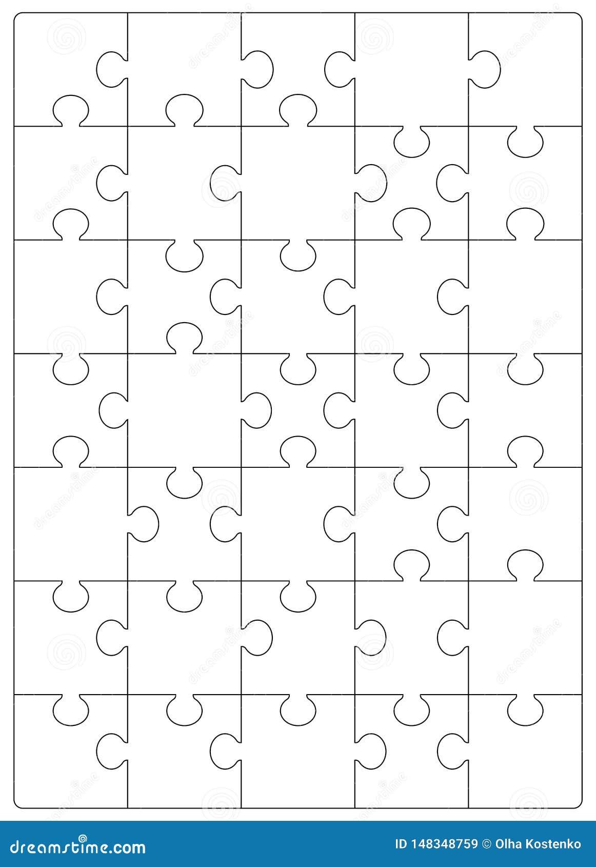 Modello di griglia di puzzle Puzzle 24 pezzi