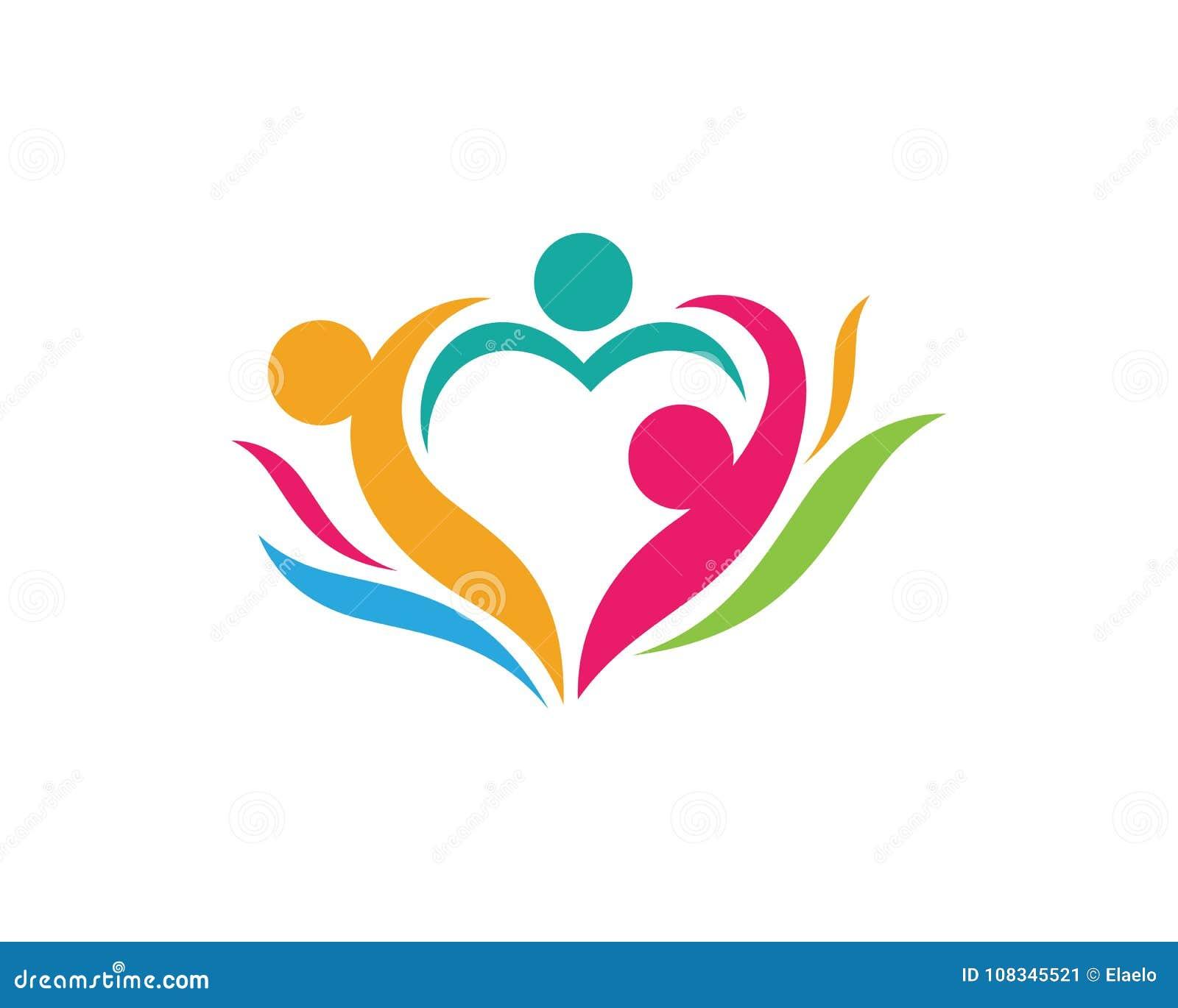 Modello di logo di cura della Comunità