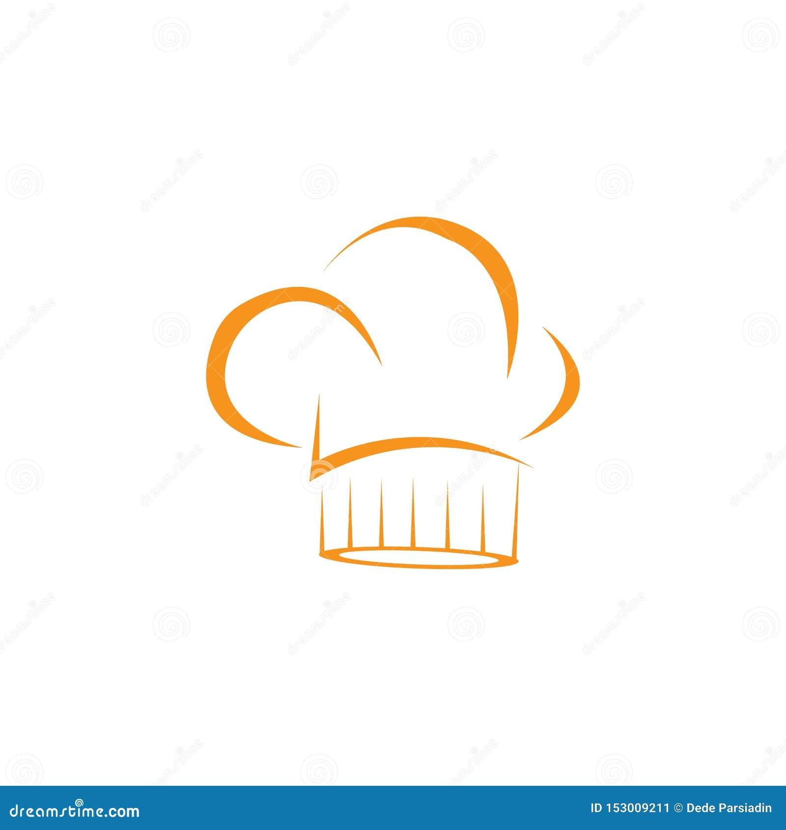 Modello di logo del cuoco unico del cappello