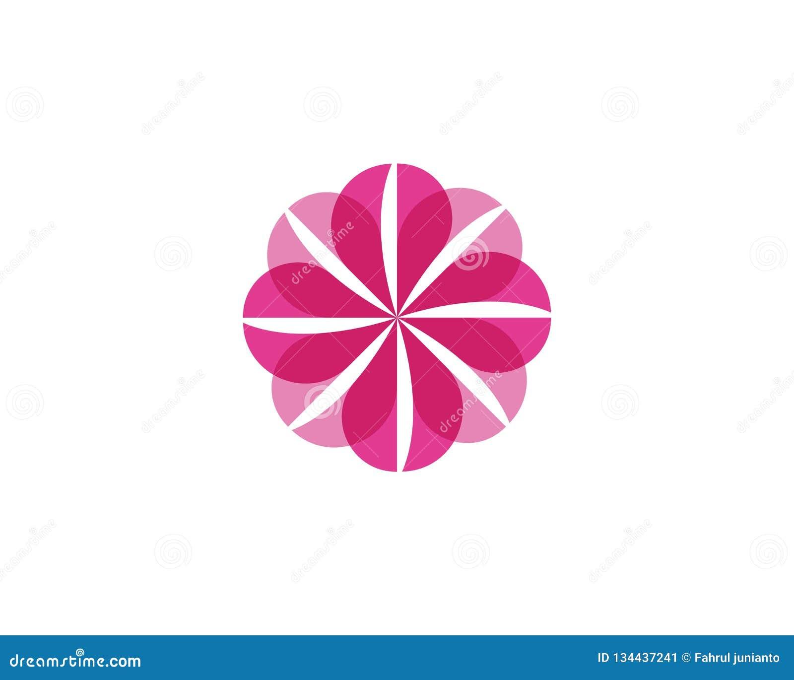Modello di logo dell icona del fiore