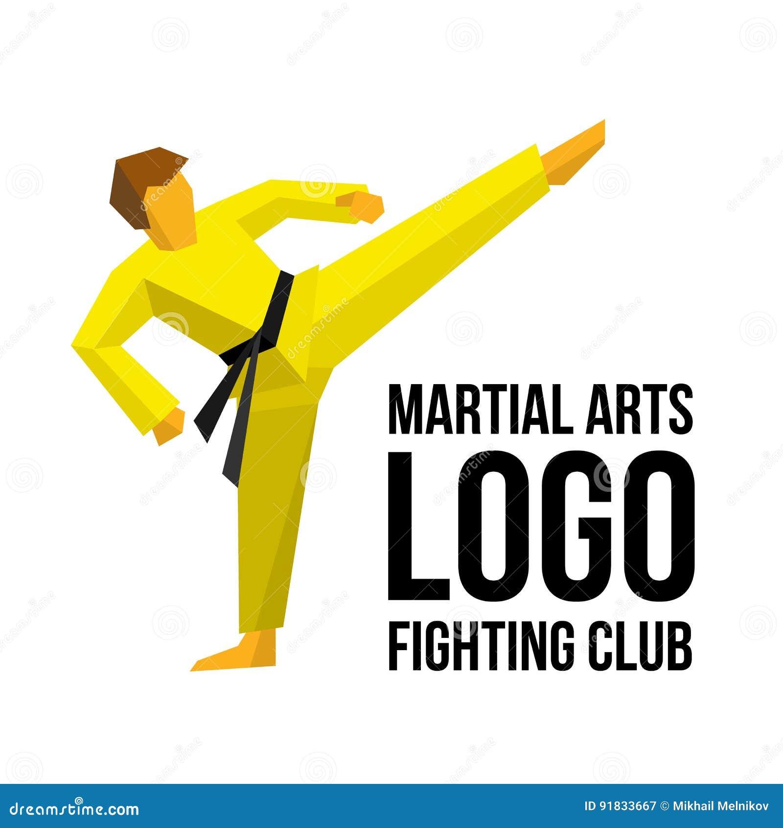 Modello di logo per il club o la palestra di arti marziali