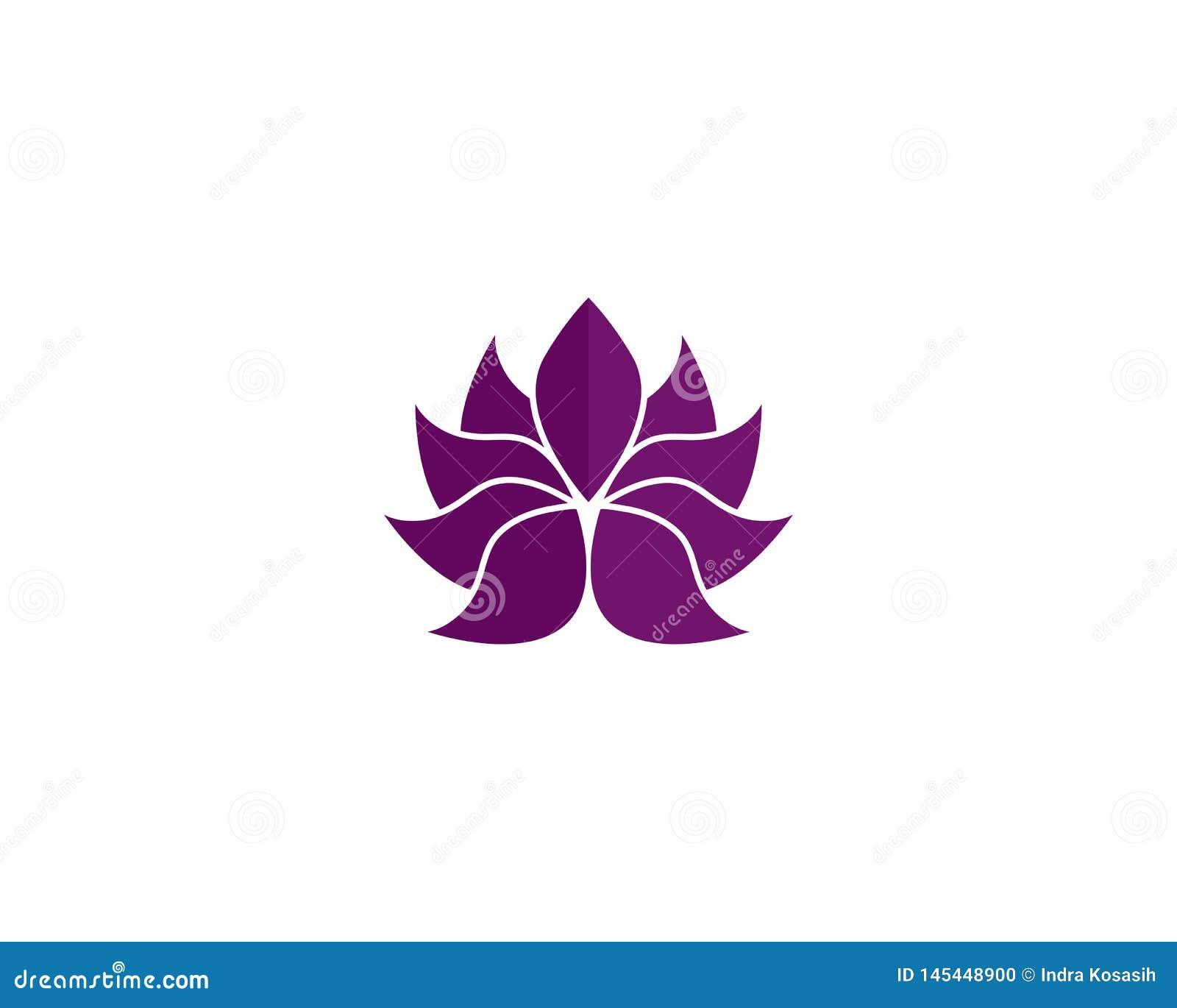 Modello di logo di progettazione dei fiori di Lotus di vettore di bellezza