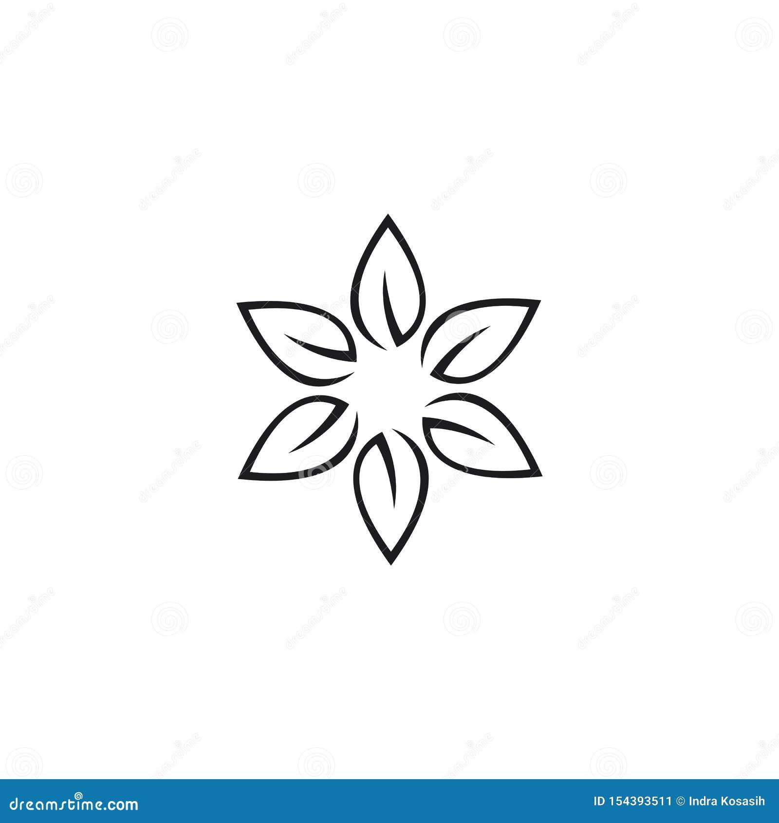 Modello di logo di progettazione dei fiori di vettore di bellezza