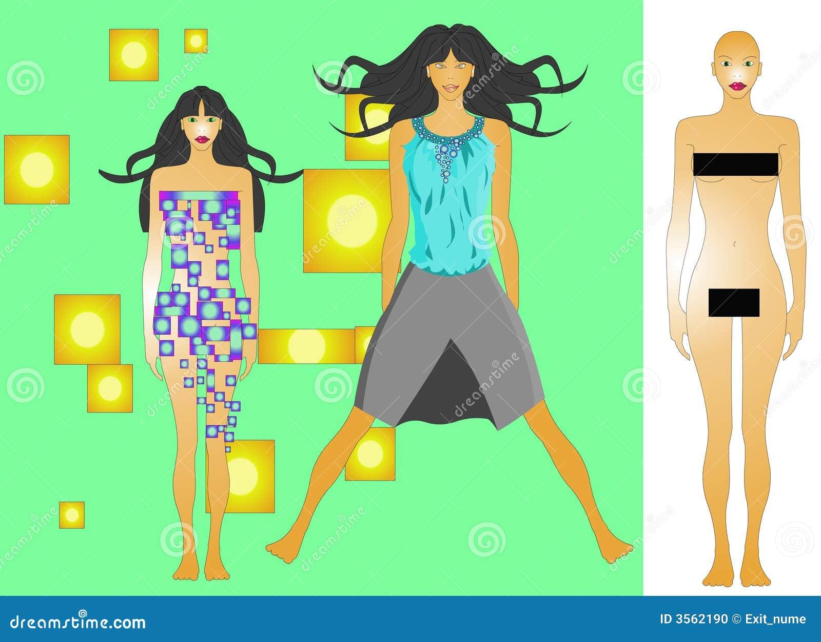 Modello di modo da vestirsi IN SU