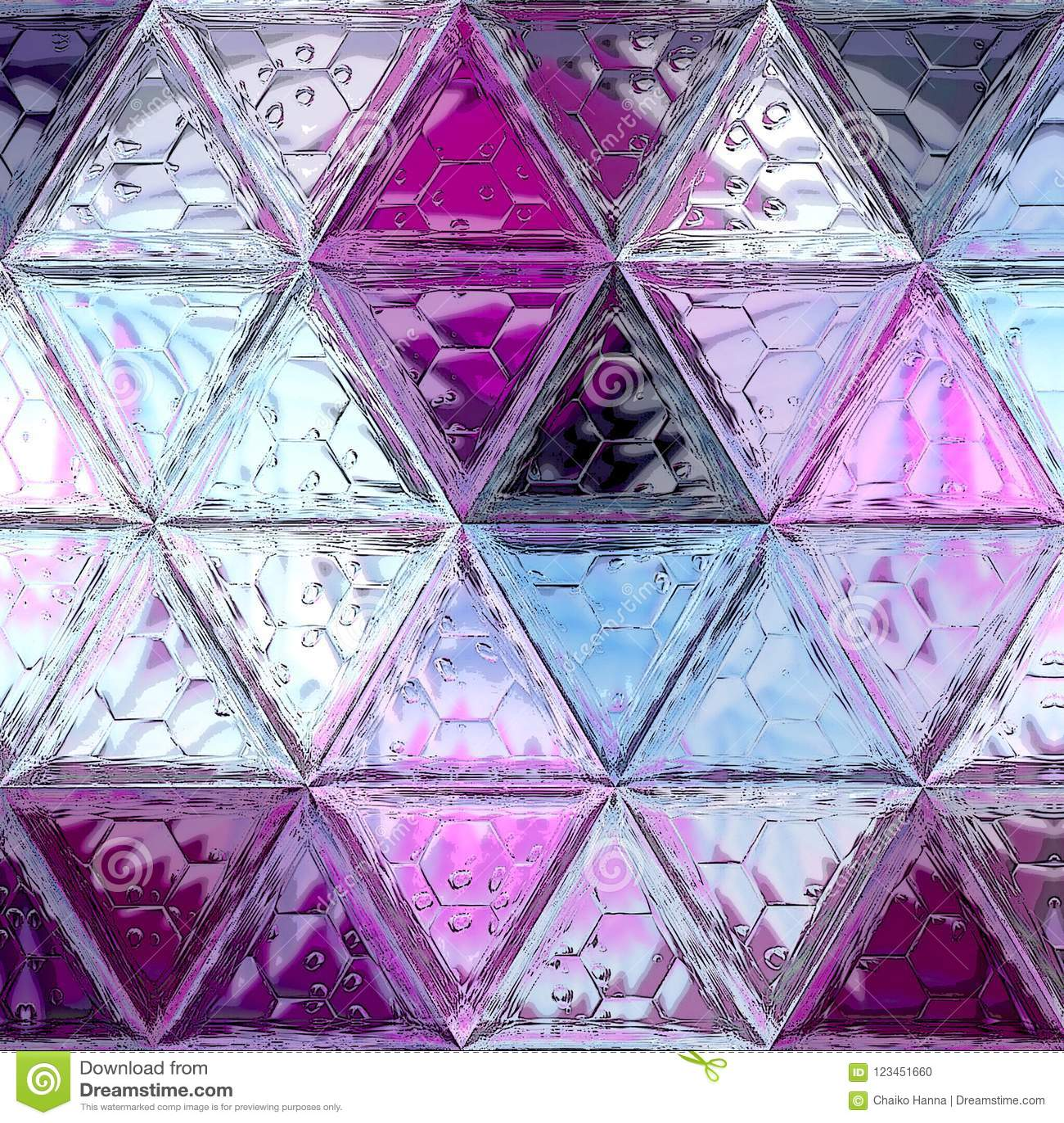 Modello di mosaico porpora e viola astratto, fondo continuo