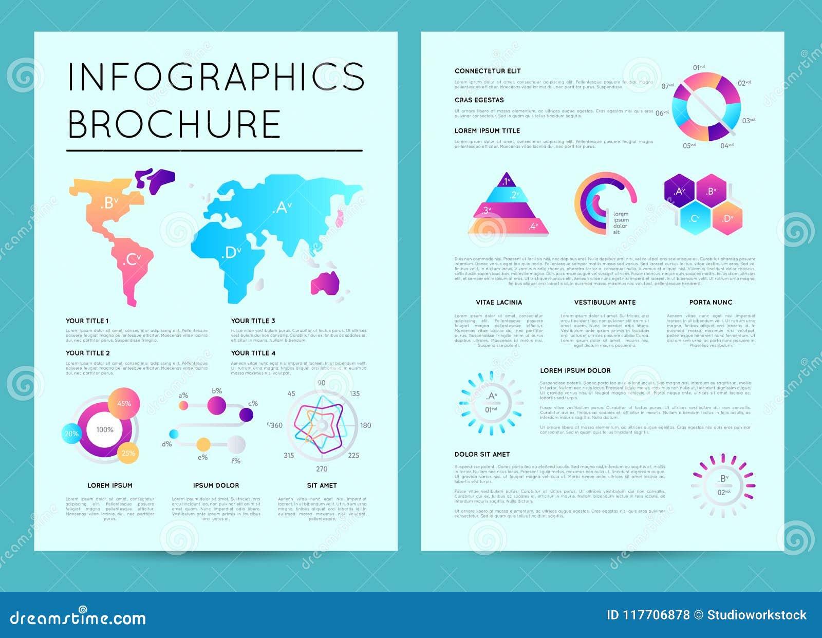 Modello di presentazione di affari con il infographics
