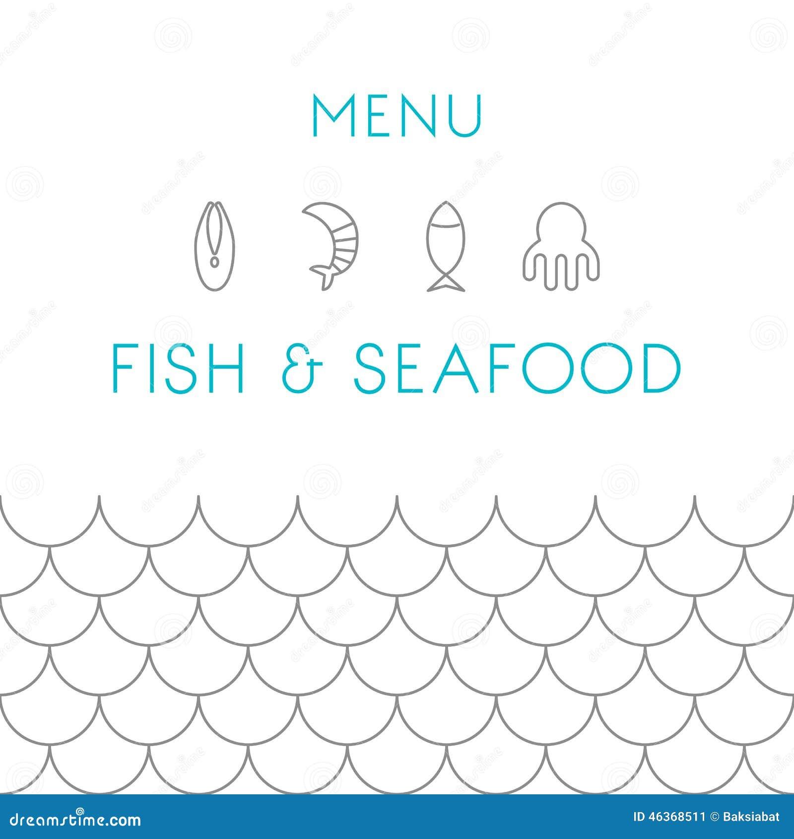Modello di progettazione del menu del ristorante frutti di for Fish 101 menu