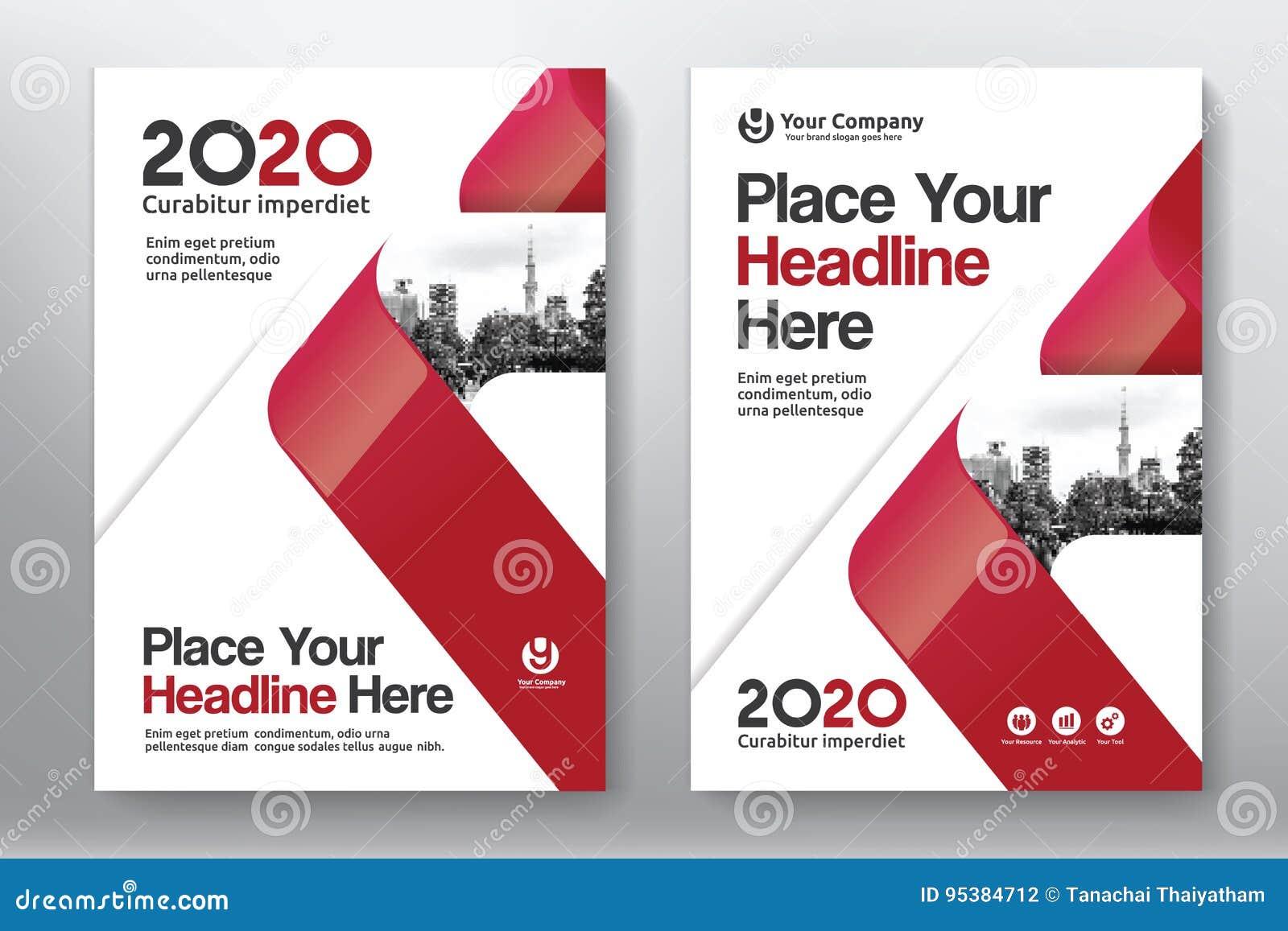 Modello di progettazione della copertina di libro di affari del fondo della città in A4