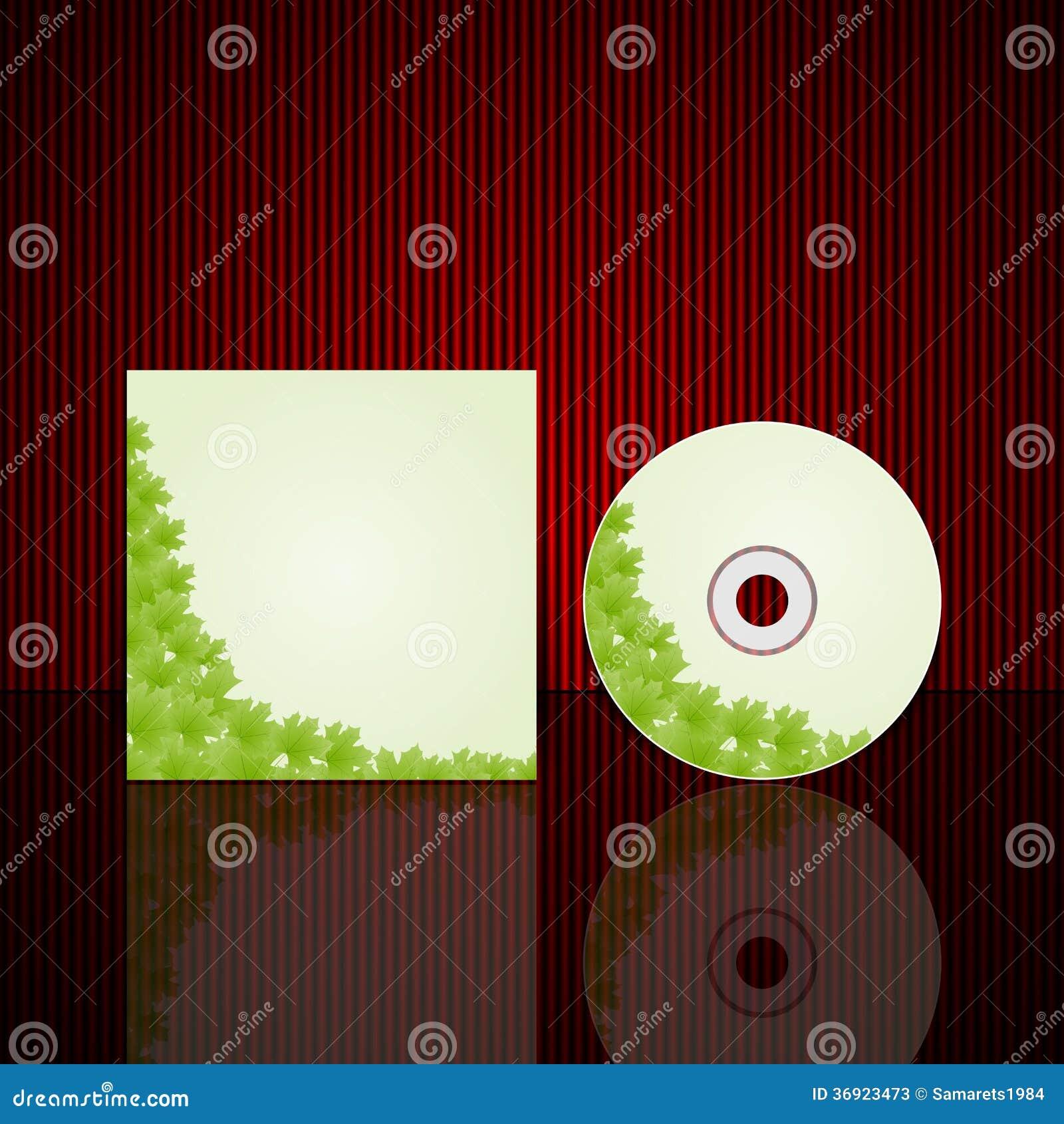 Modello di progettazione della copertura del CD. Illustrazione di vettore.