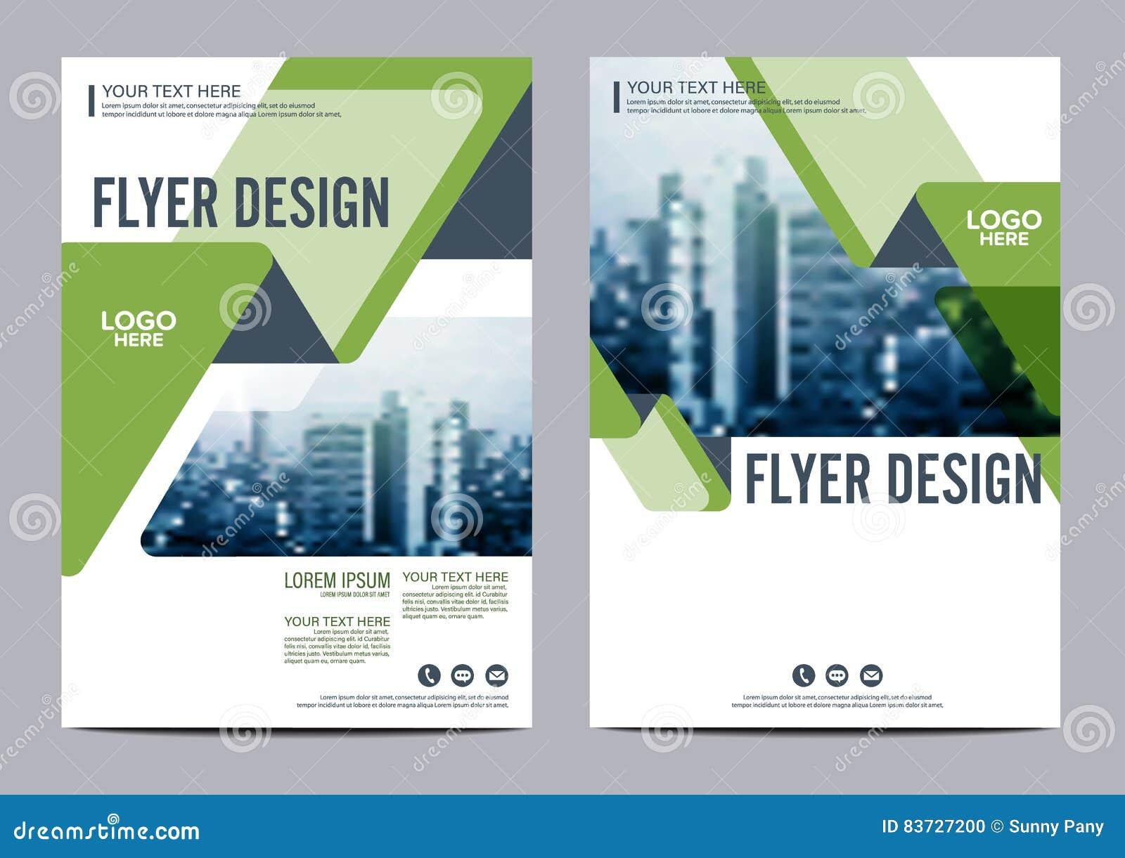 Modello di progettazione della disposizione dell opuscolo della pianta Fondo moderno di presentazione della copertura dell opusco