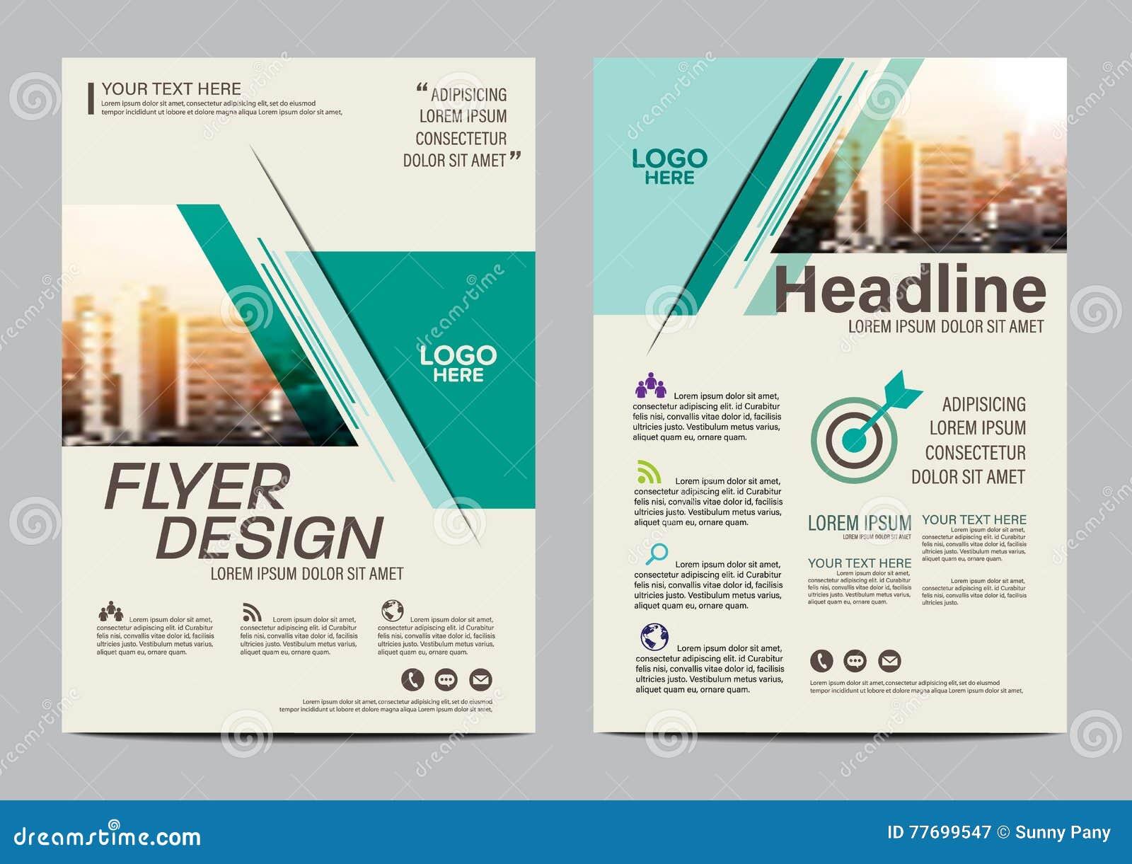 Modello di progettazione della disposizione dell opuscolo Fondo moderno di presentazione della copertura dell opuscolo dell alett