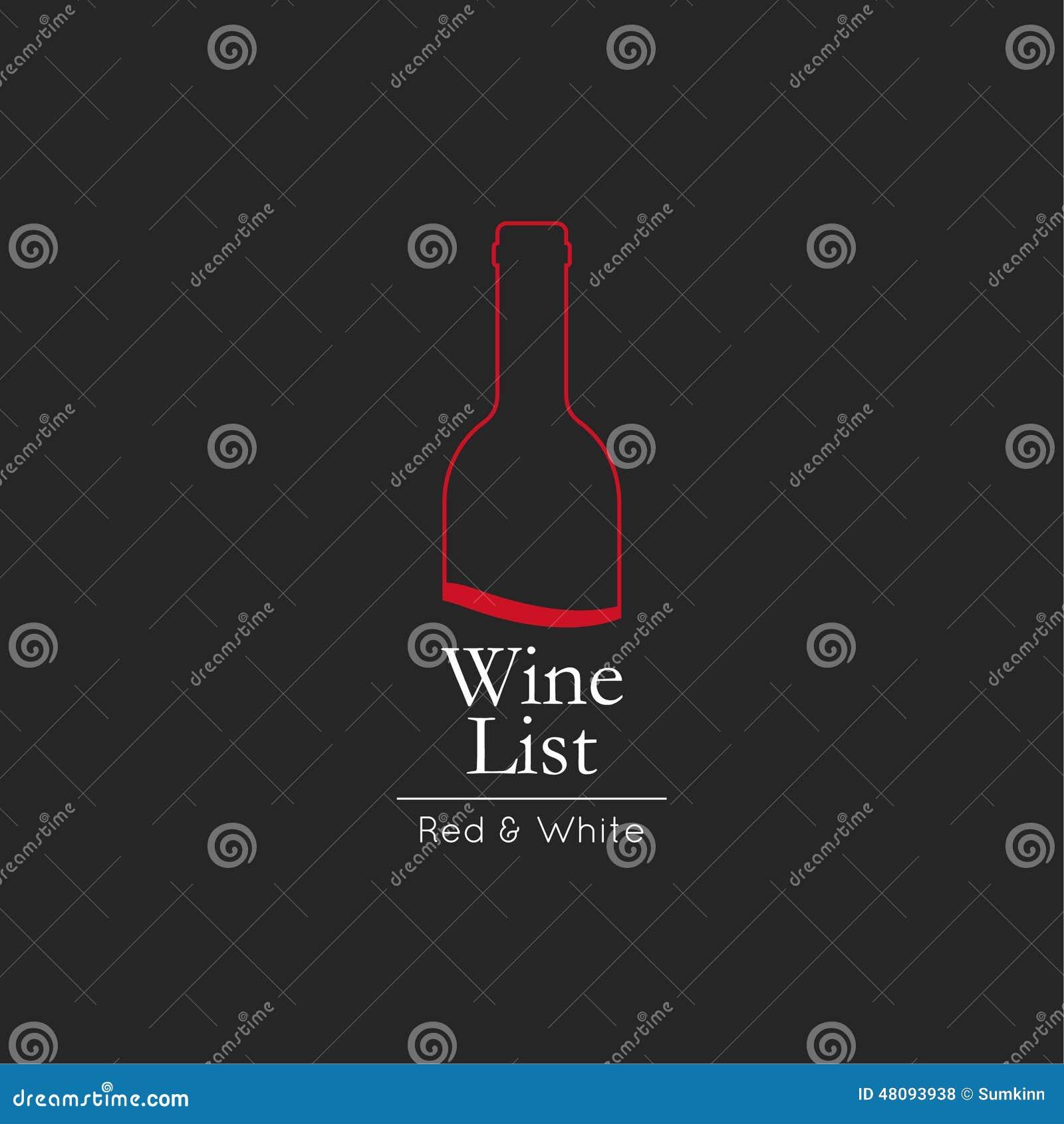 Modello di progettazione di carta del menu della lista di vino