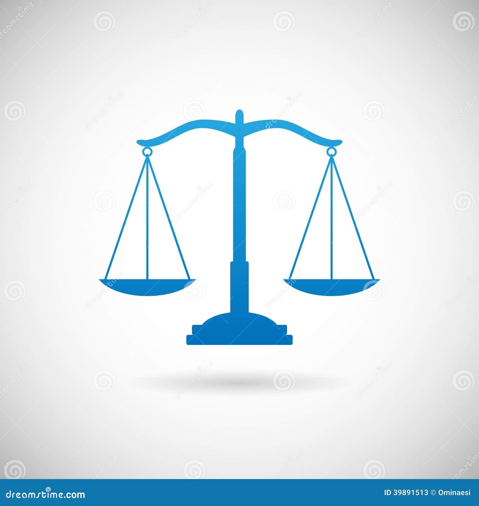 Modello di Scales Icon Design della giustizia di simbolo di legge sull illustrazione di vettore di Grey Background