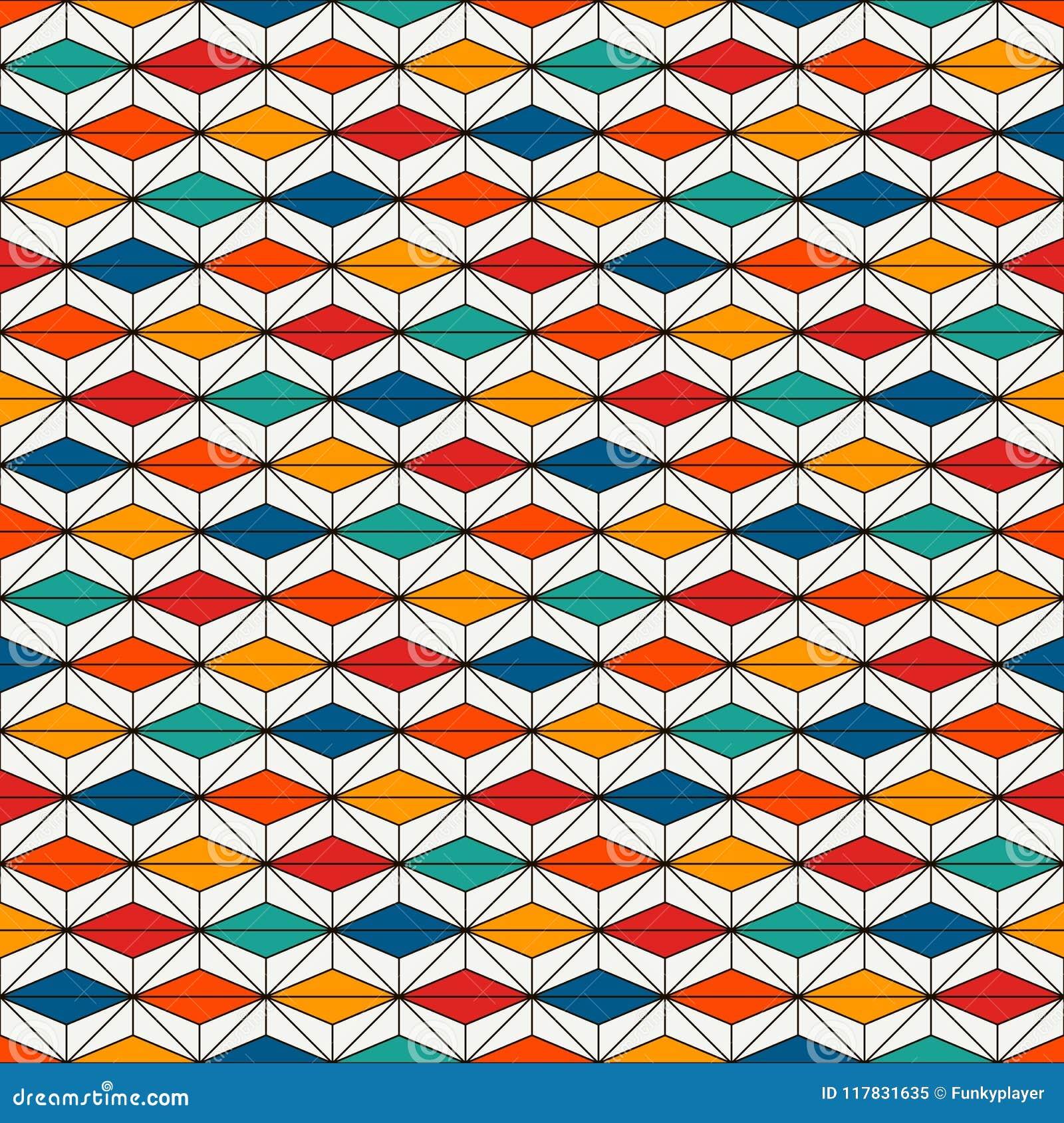 Modello di superficie senza cuciture di stile africano con le figure astratte Stampa etnica luminosa Priorità bassa ornamentale g