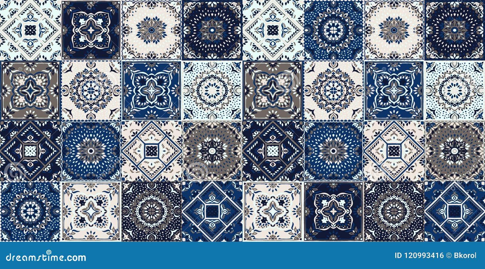 Modello di talavera rappezzatura indiana azulejos portogallo