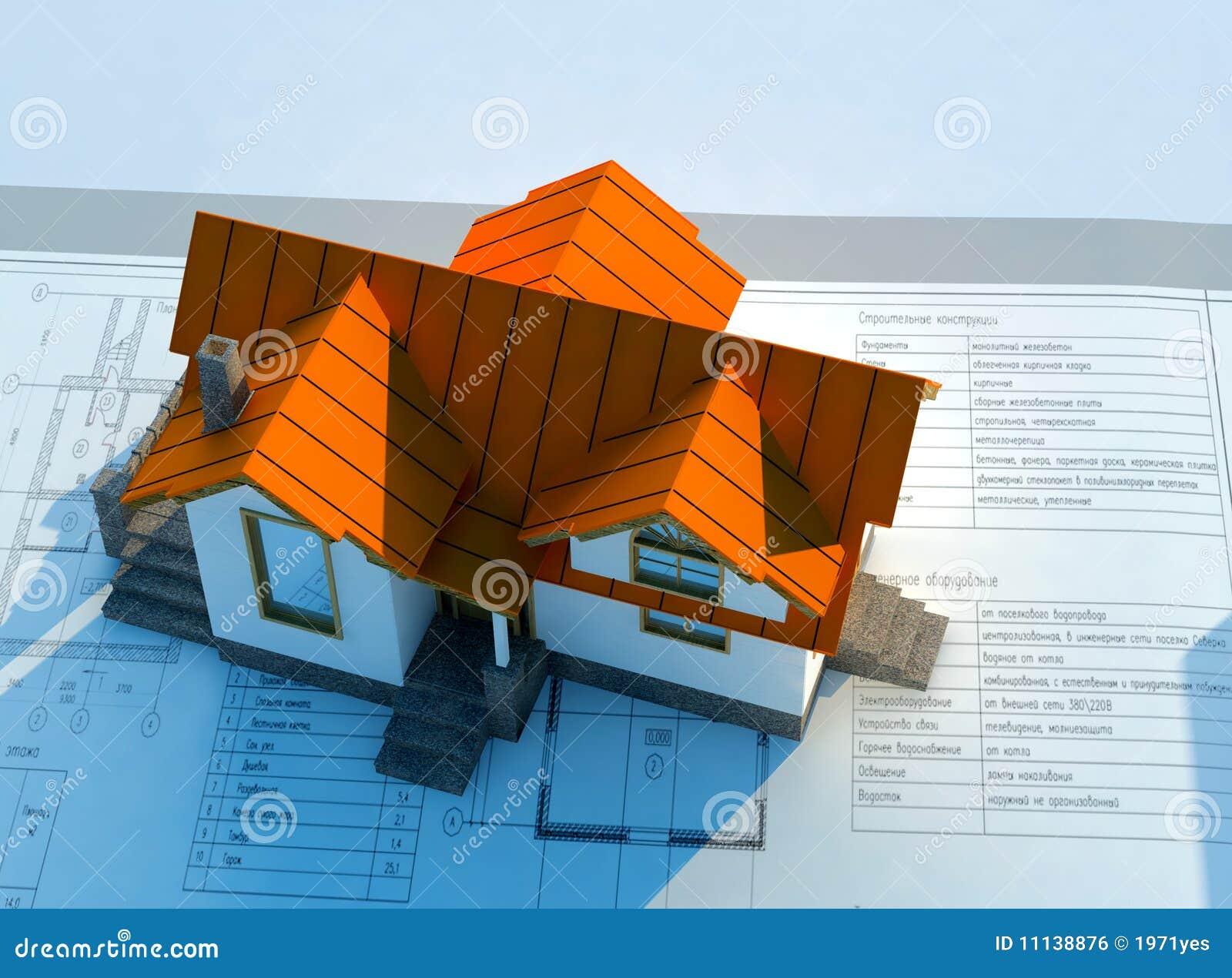 Modello di una casa illustrazione di stock illustrazione for Www nuovo modello di casa