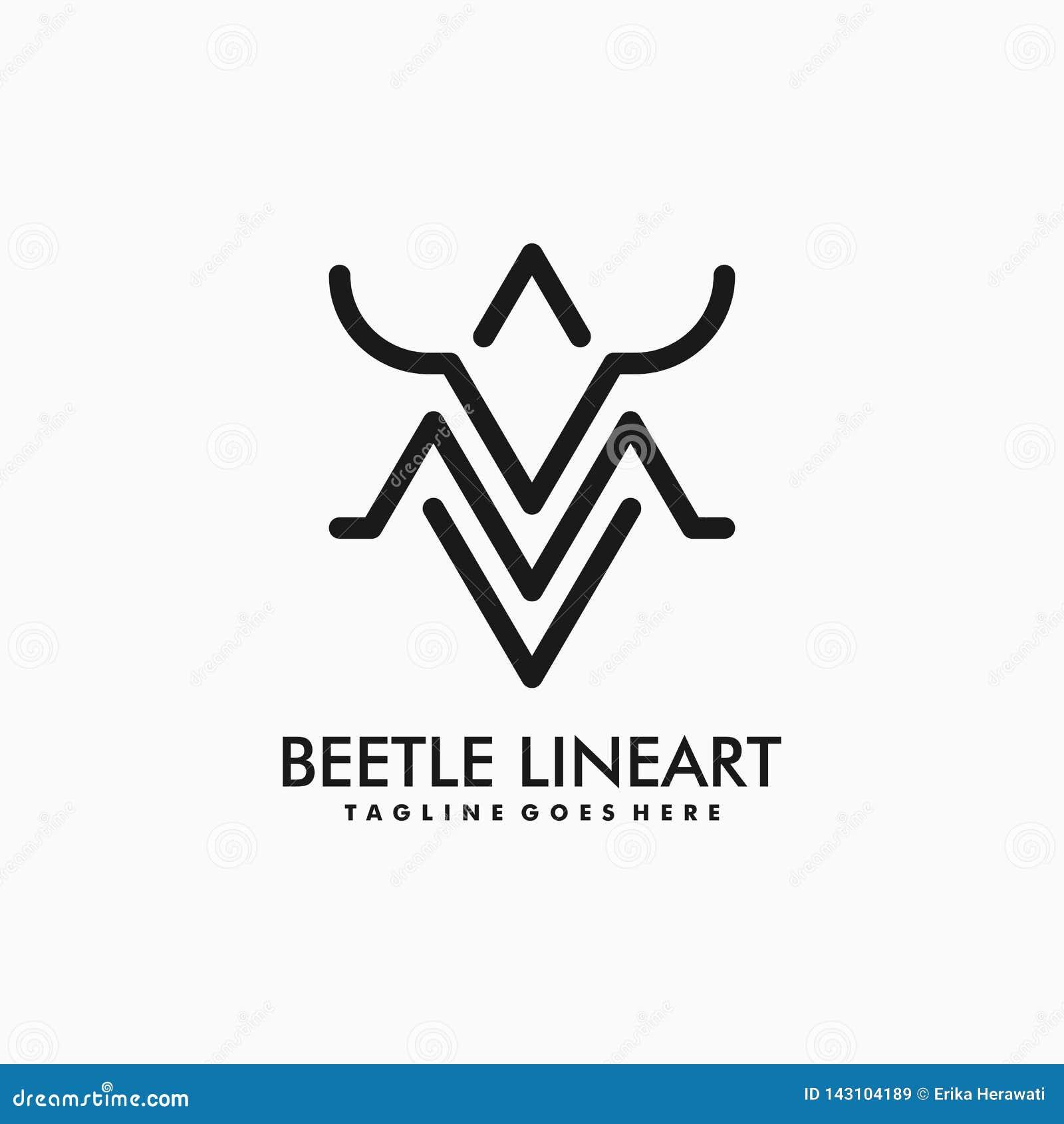 Modello di vettore dell illustrazione dello scarabeo