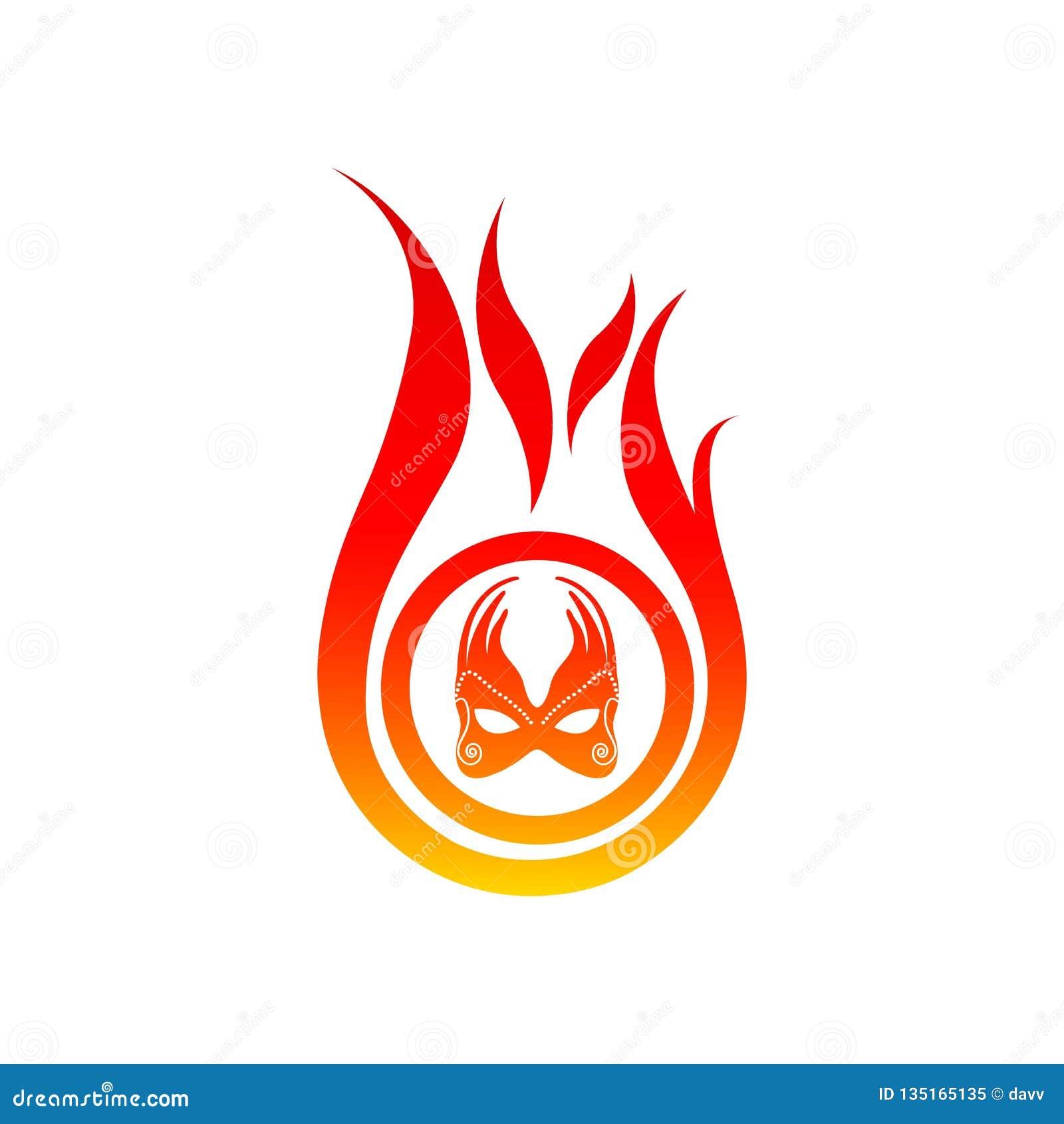 Modello di vettore di logo della fiamma grafico di progettazione di logo del fuoco elemento di progettazione di logo della torcia