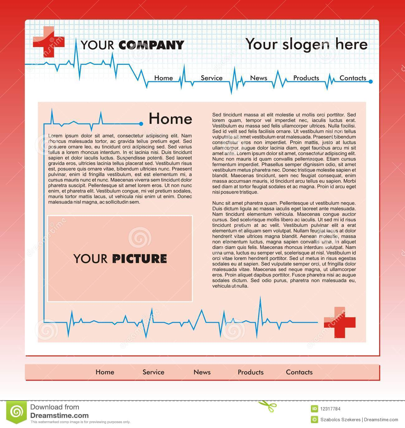 Modello di Web site di affari