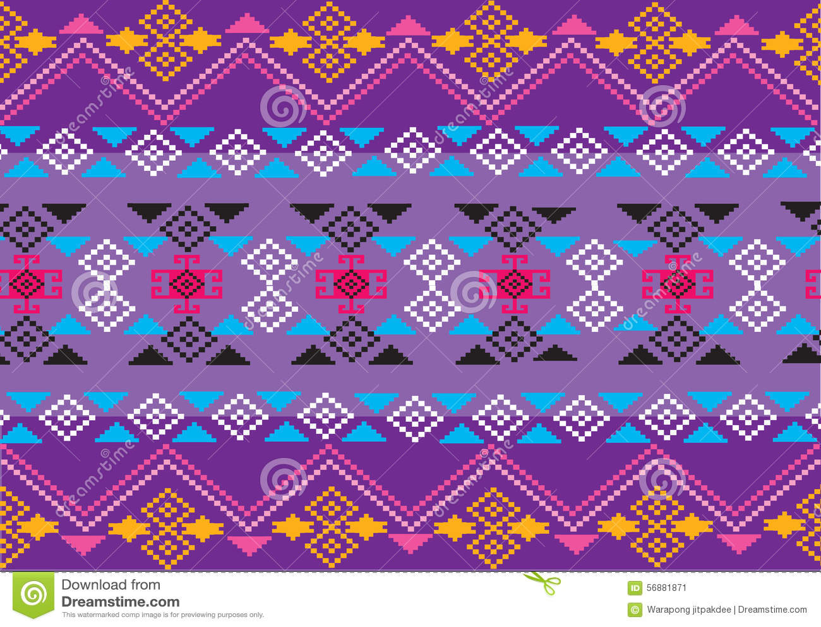 Modello etnico geometrico