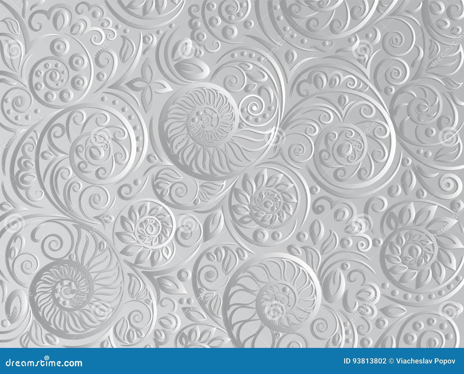 Modello Floreale In Bianco E Nero Per Il Libro Da Colorare Nello