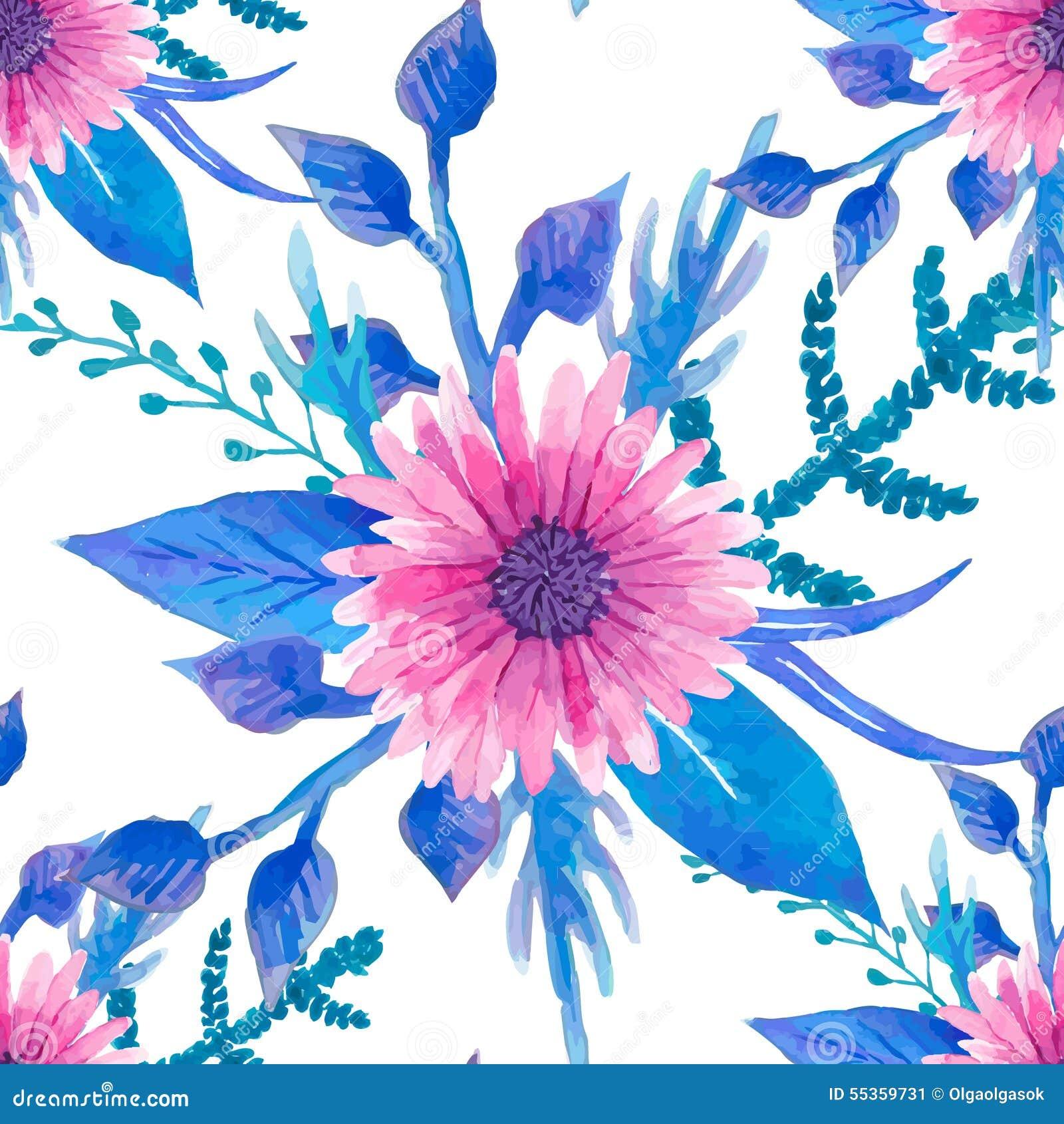 Modello floreale senza cuciture dell acquerello