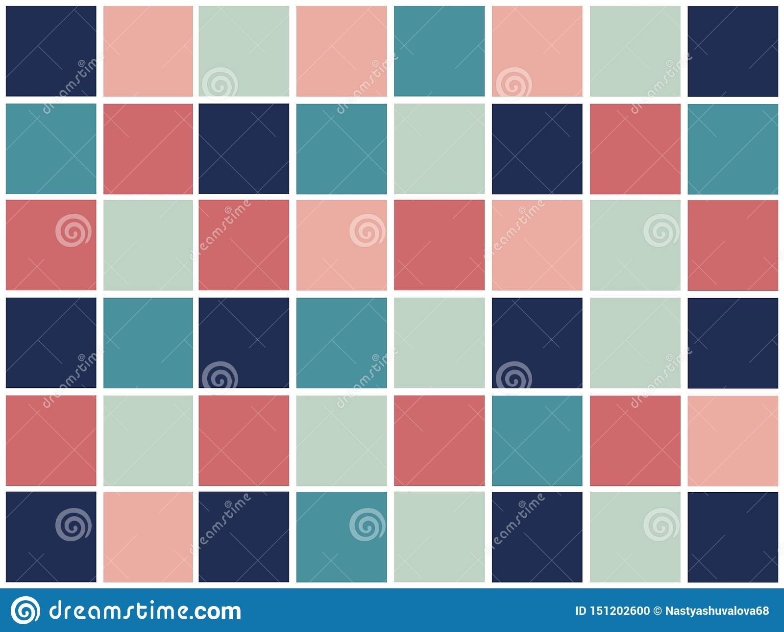 Modello geometrico astratto variopinto con i quadrati