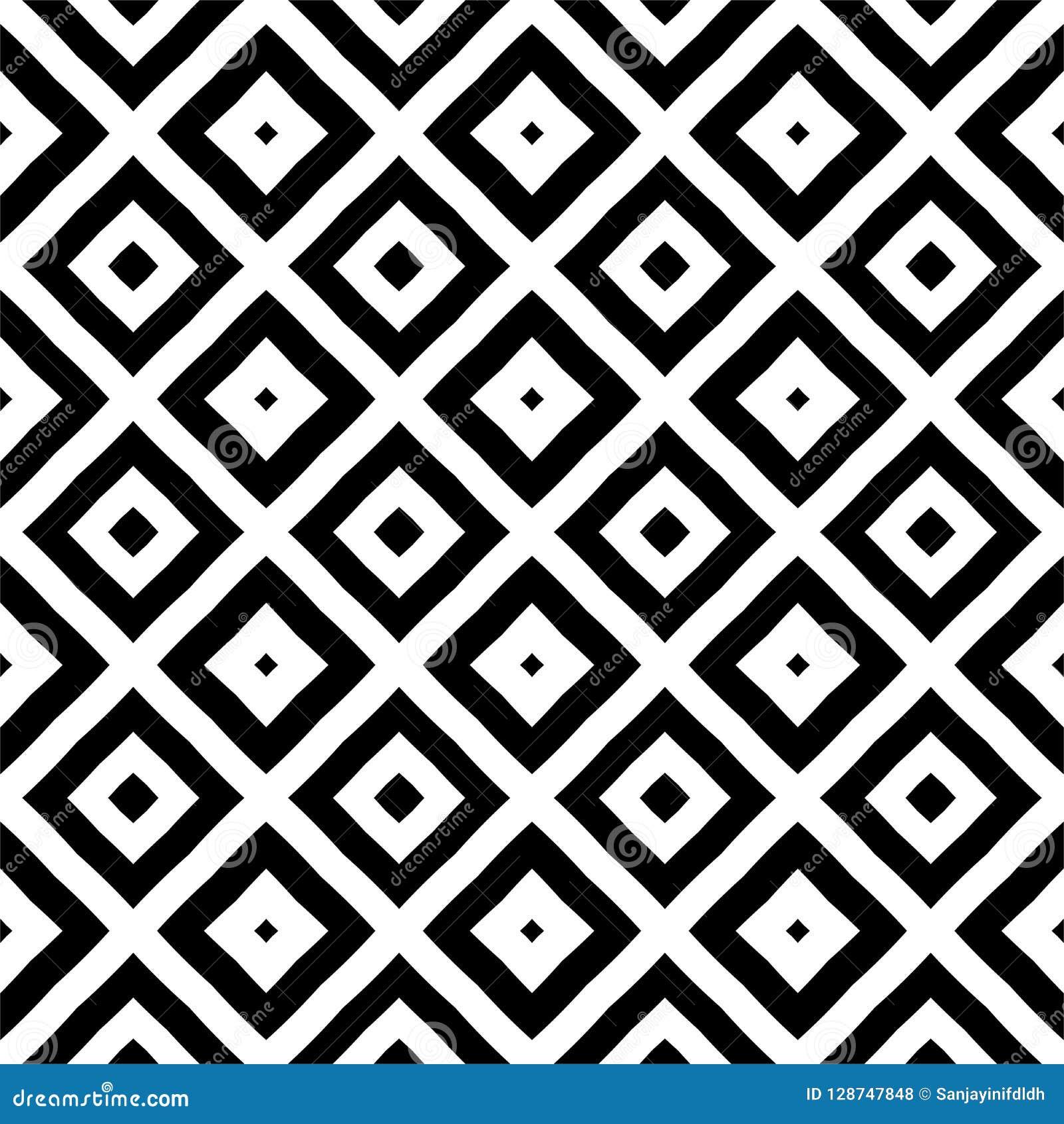 Disegni Geometrici Bianco E Nero modello geometrico in bianco e nero quadrato/del rombo in