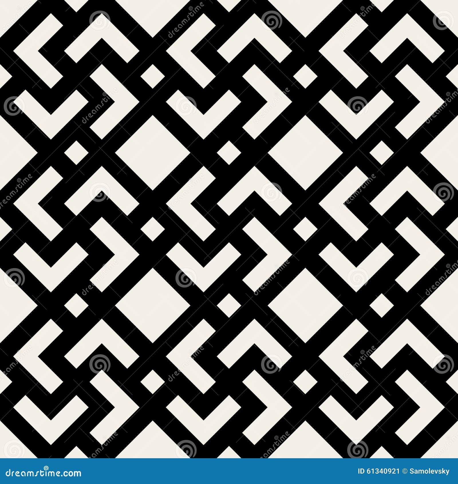 Modello geometrico in bianco e nero senza cuciture delle mattonelle ...