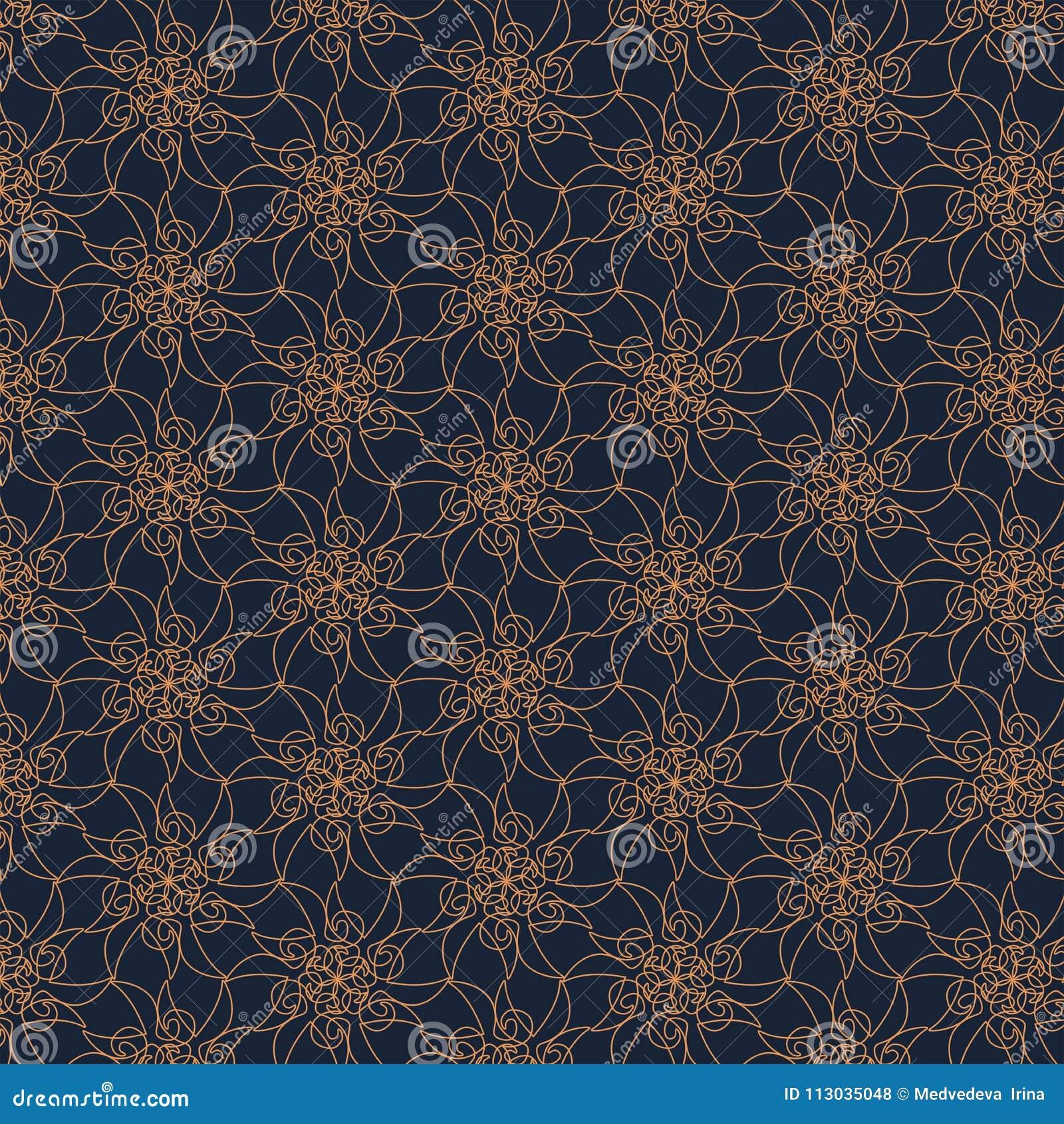 Modello geometrico di contorno su fondo blu Struttura astratta disegnata a mano