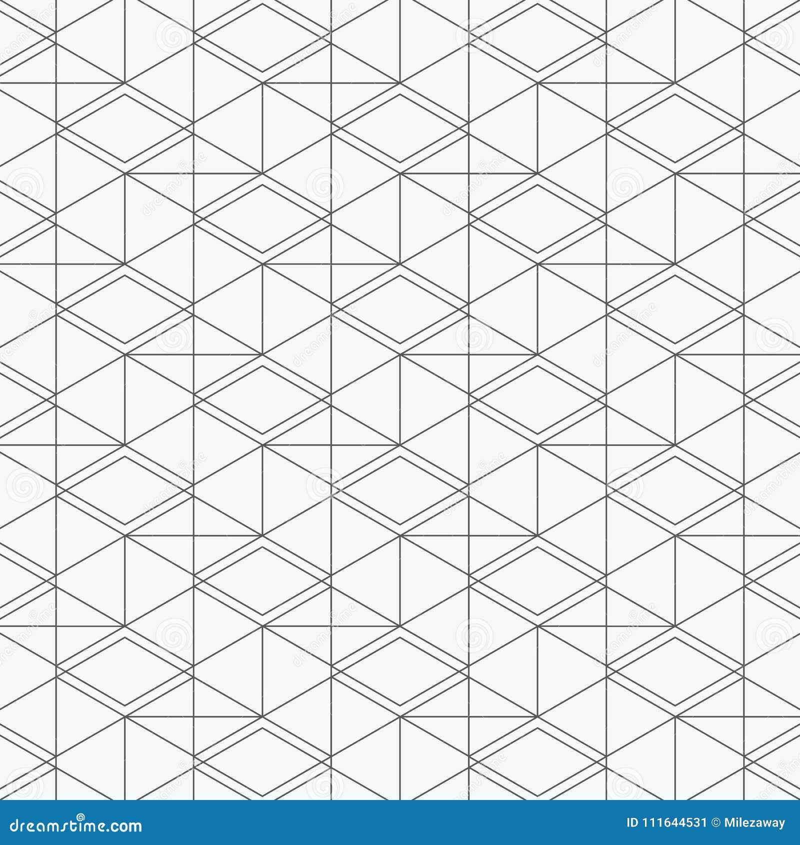Modello geometrico di vettore, ripetente il rombo quadrato lineare di forma del diamante grafico pulisca la progettazione per tes