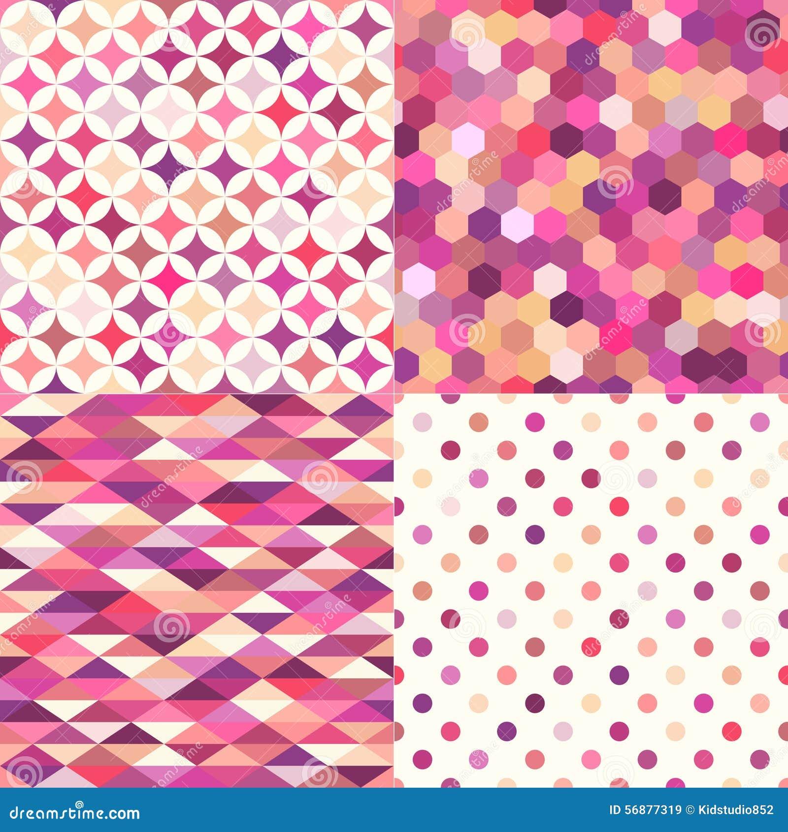 Modello geometrico multicolore senza cuciture delle mattonelle