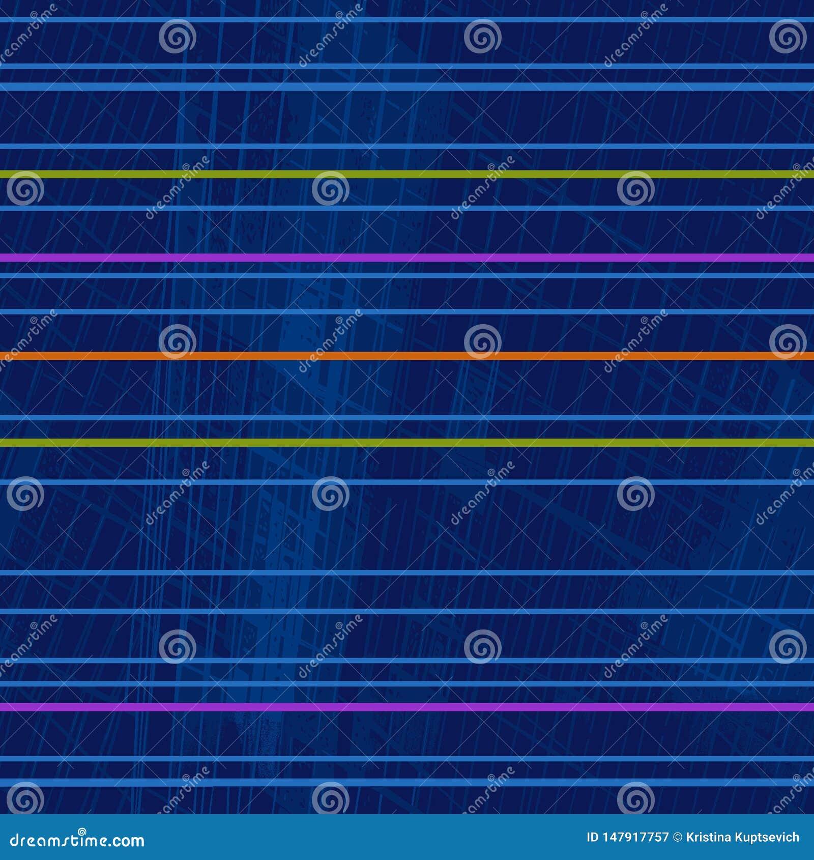 Modello geometrico ripetitivo delle bande orizzontali fluorescenti luminose