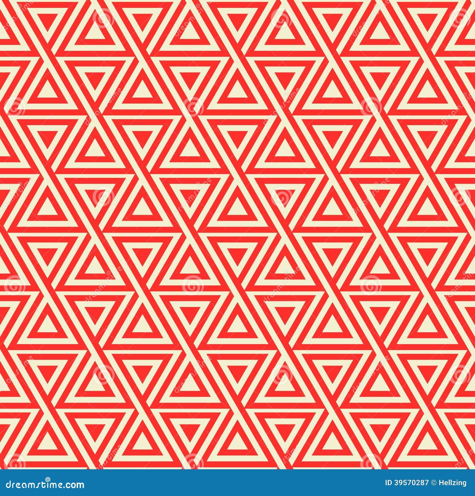 Modello geometrico senza cuciture astratto con i triangoli